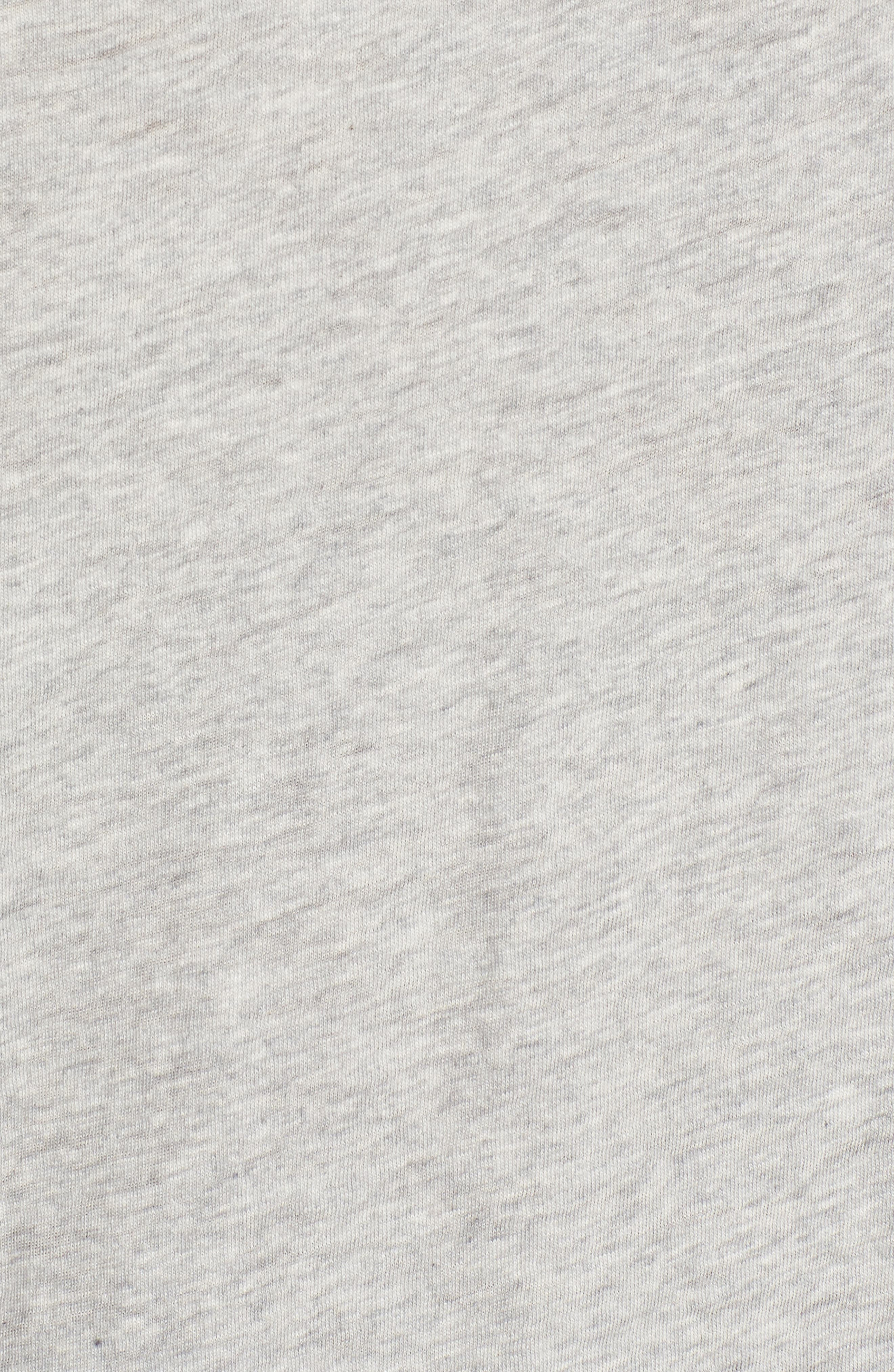 Lightweight Colorblock Cotton Tee,                             Alternate thumbnail 5, color,                             Grey- Ivory