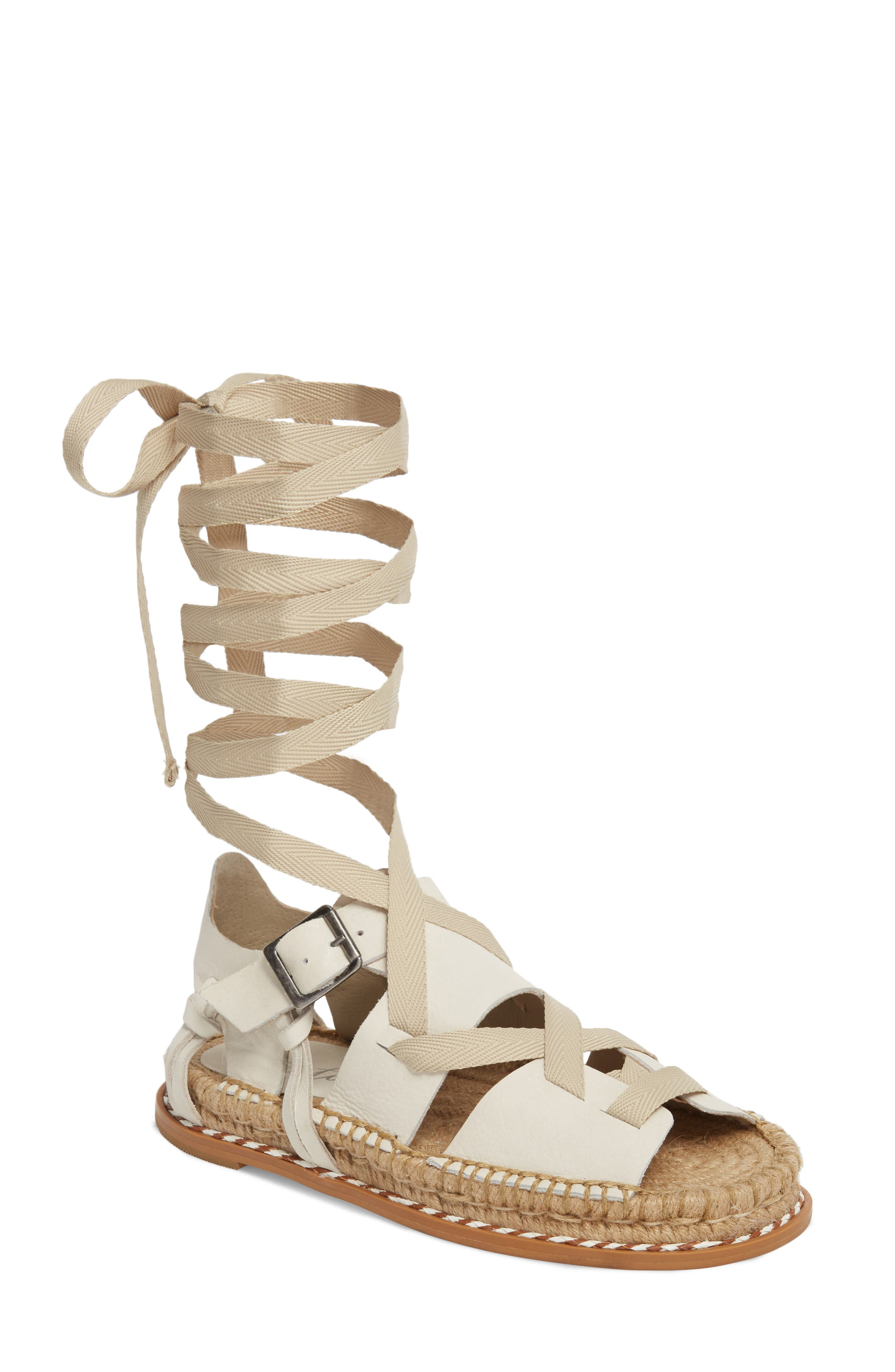 Tabby Gladiator Sandal,                         Main,                         color, Natural Leather