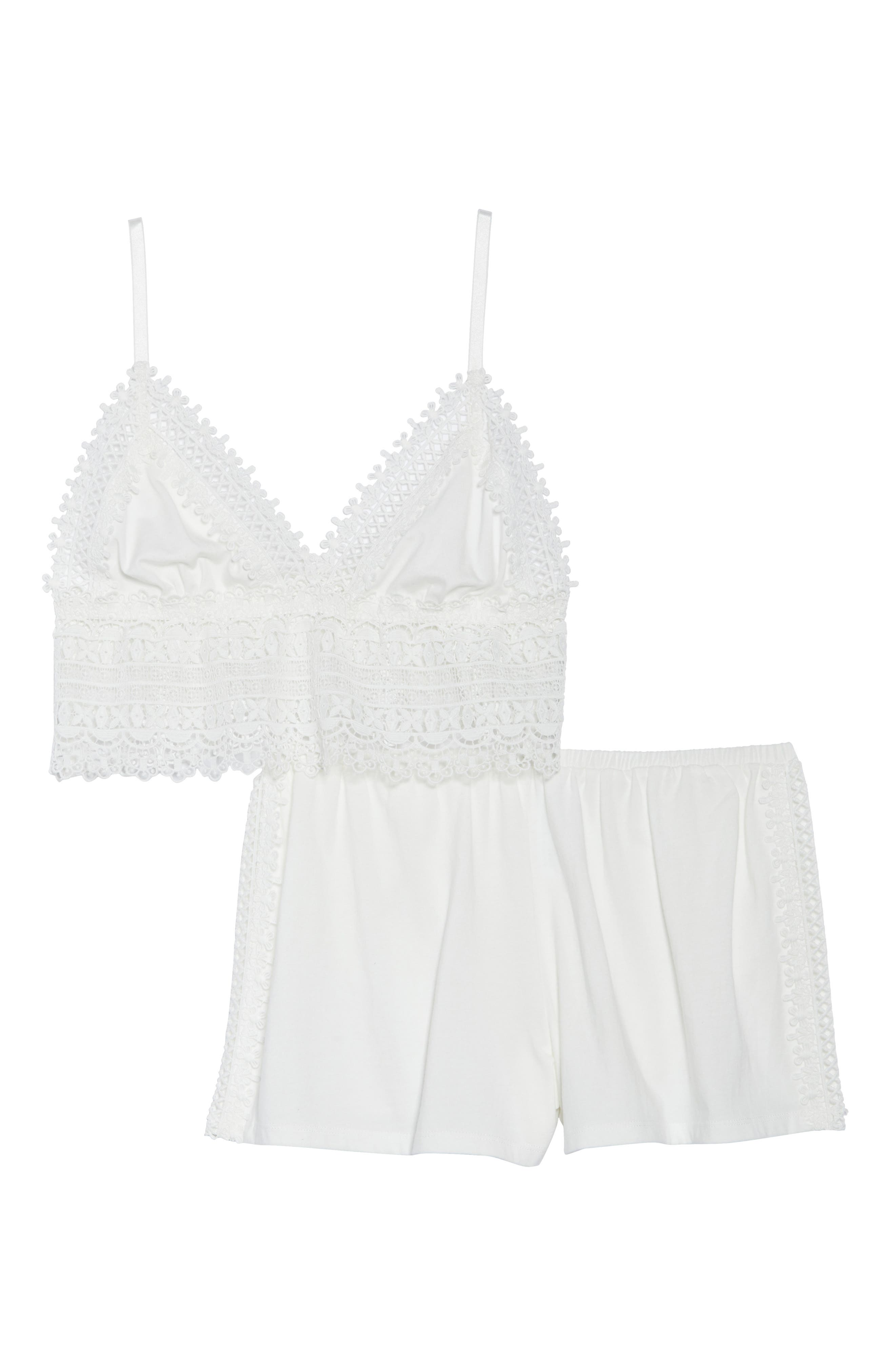 Edie Short Pajamas,                             Alternate thumbnail 6, color,                             Ivory