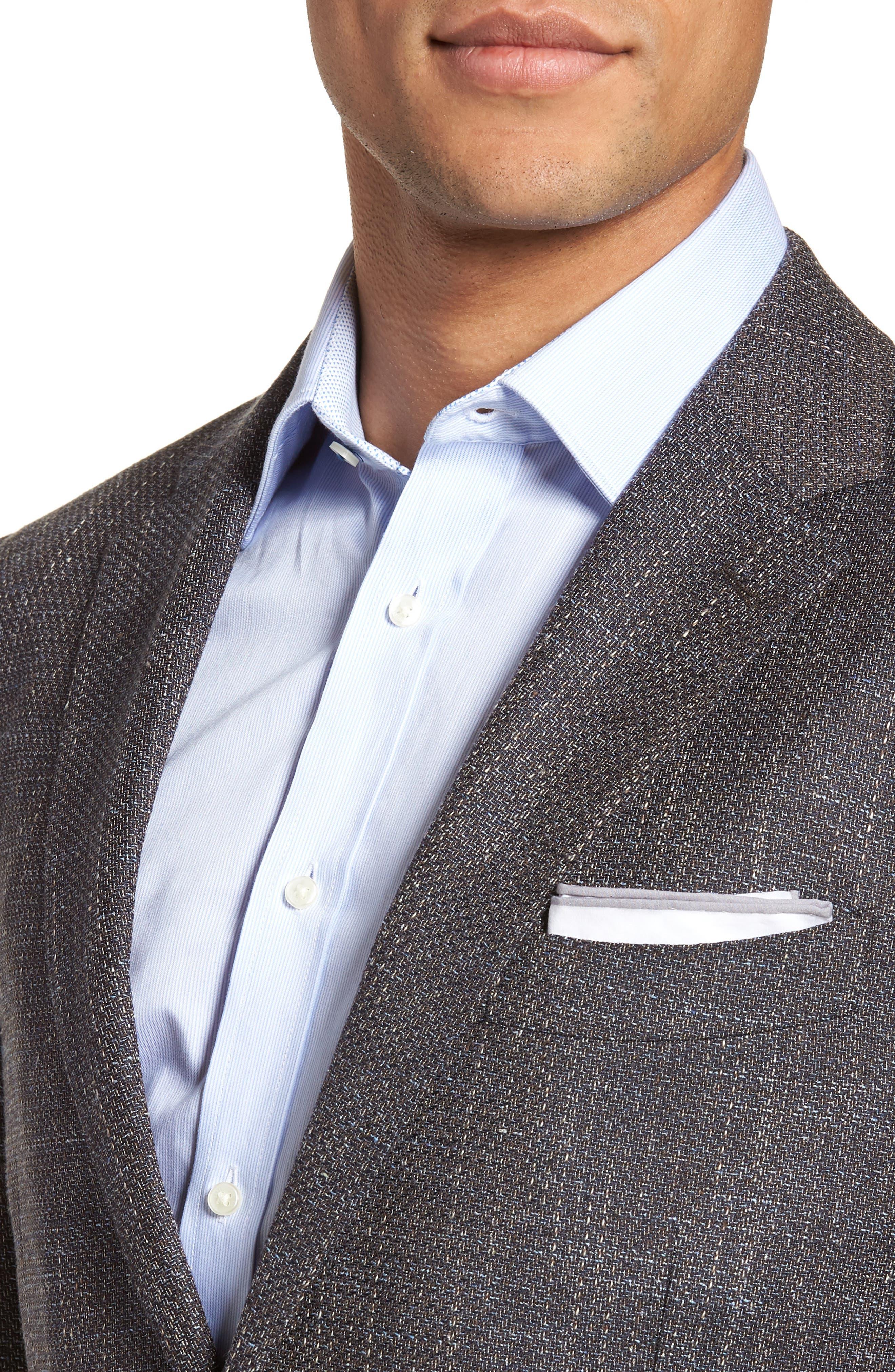 Five Bridges Slim Fit Tweed Sport Coat,                             Alternate thumbnail 4, color,                             Sepia