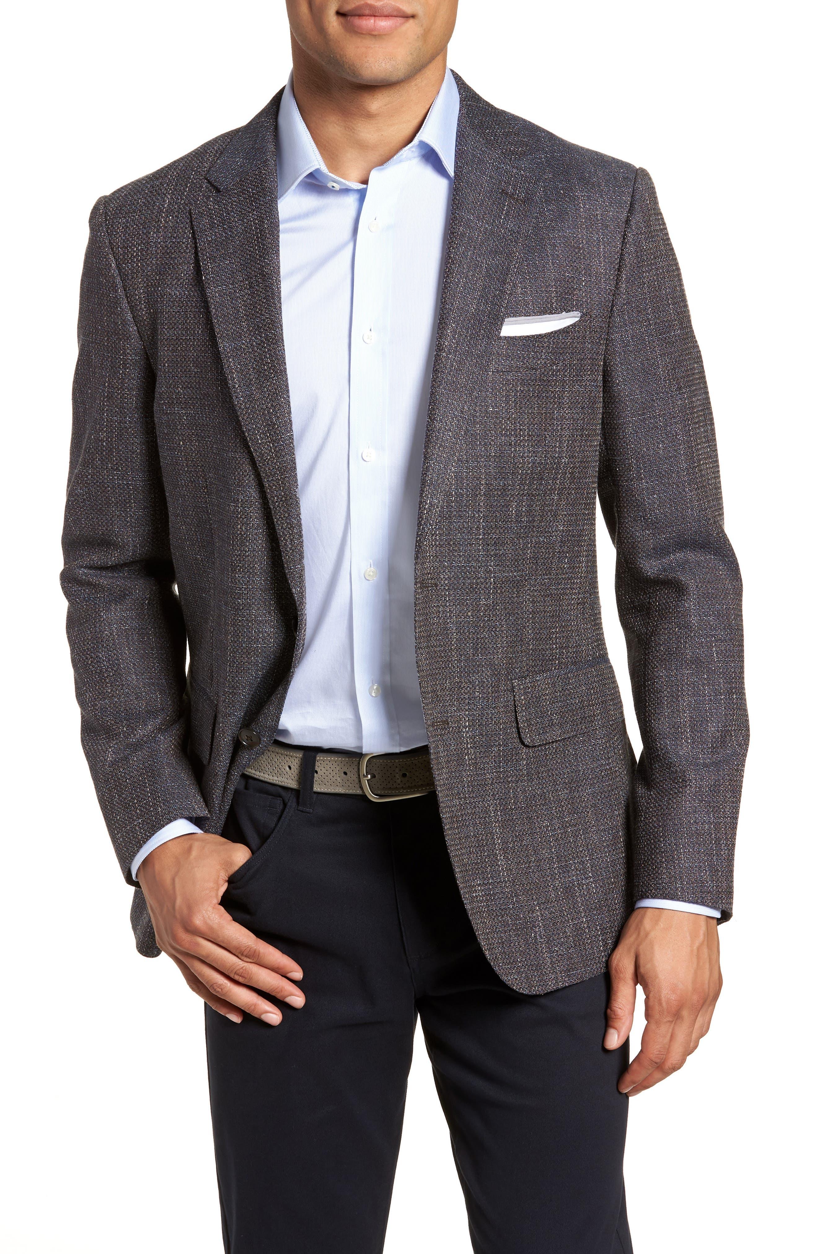 Five Bridges Slim Fit Tweed Sport Coat,                         Main,                         color, Sepia