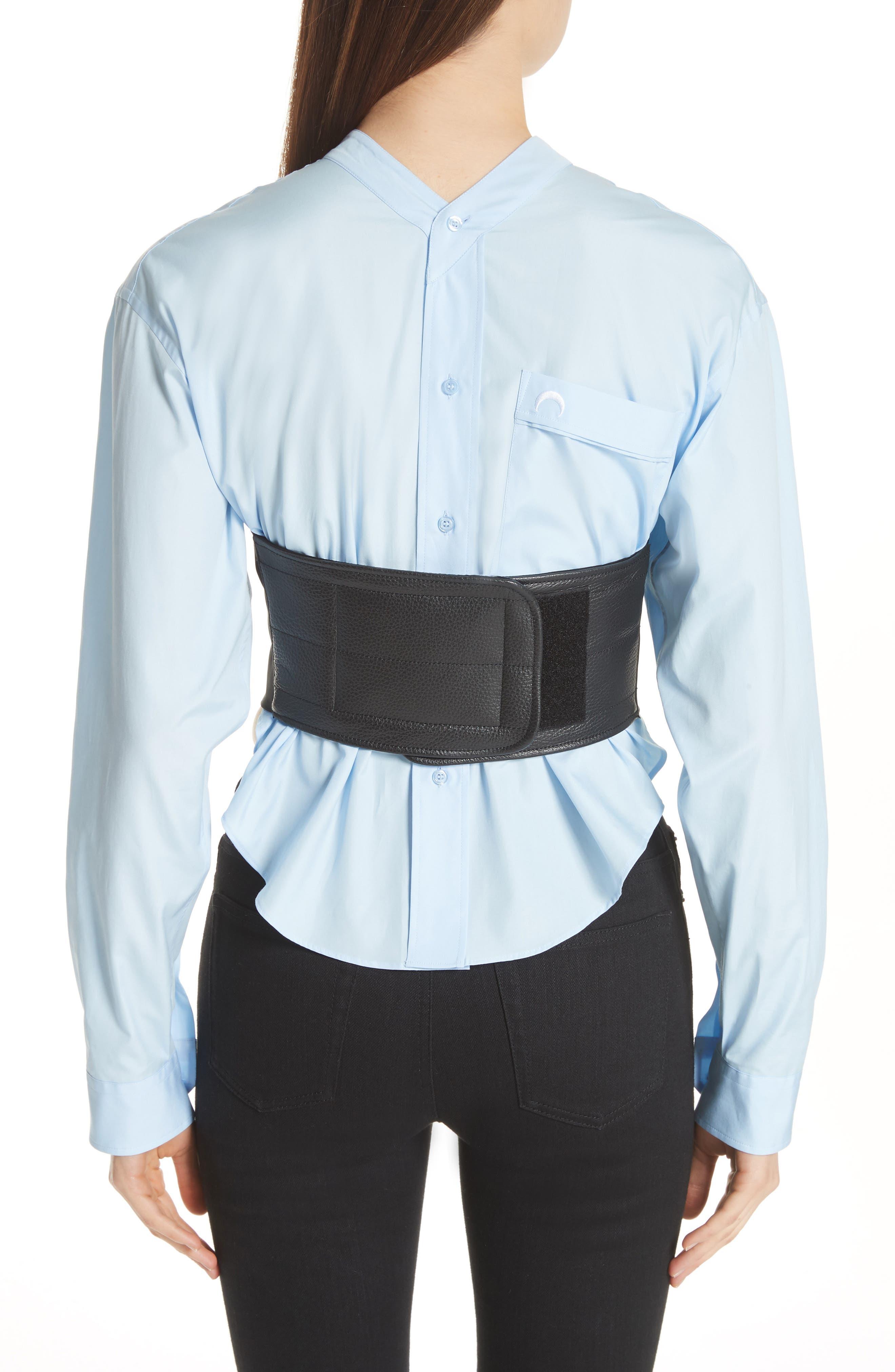Bustier Shirt,                             Alternate thumbnail 2, color,                             Blue/ Black Bustier