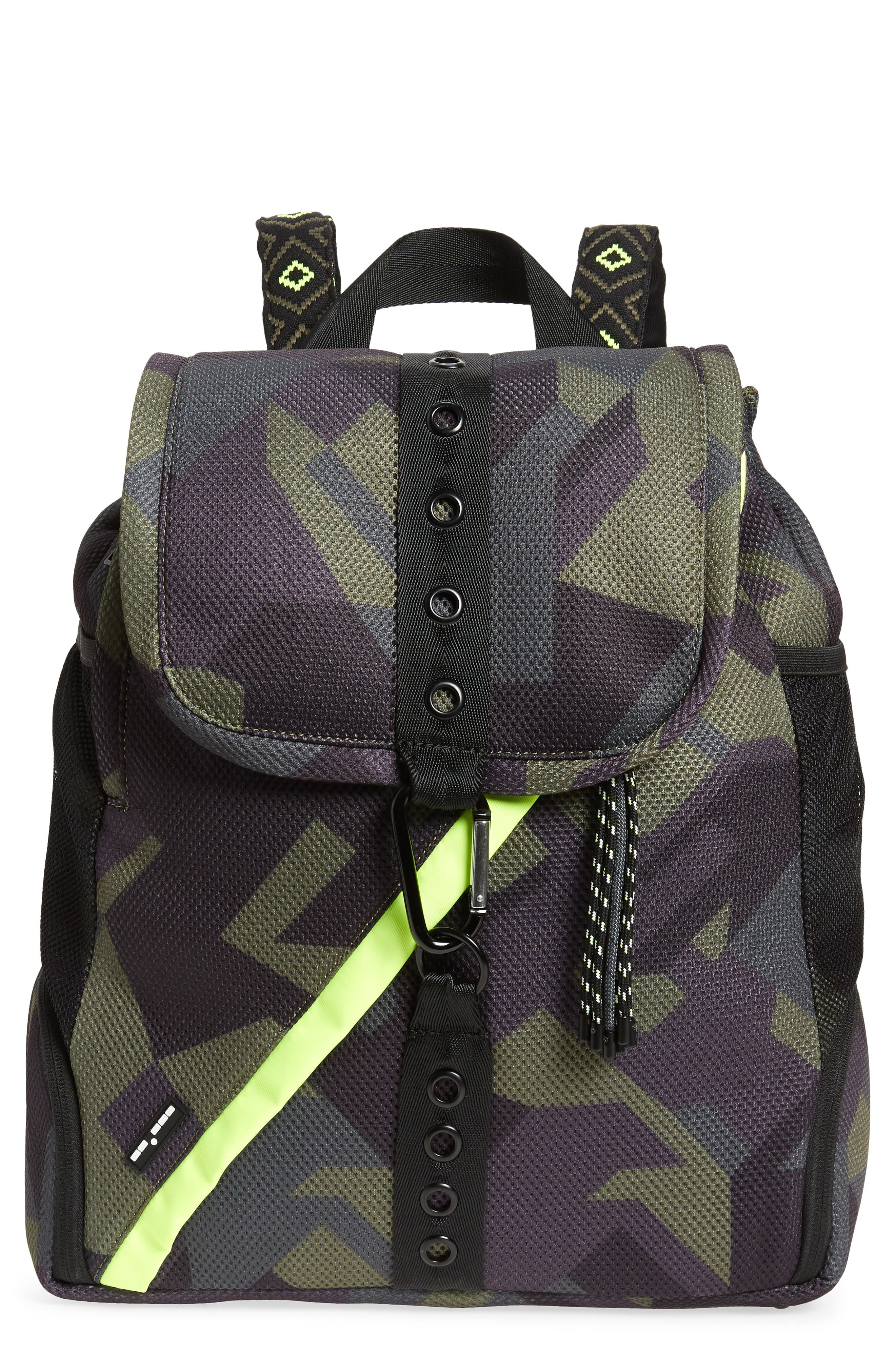 Water Resistant Backpack,                         Main,                         color, Olive Camo