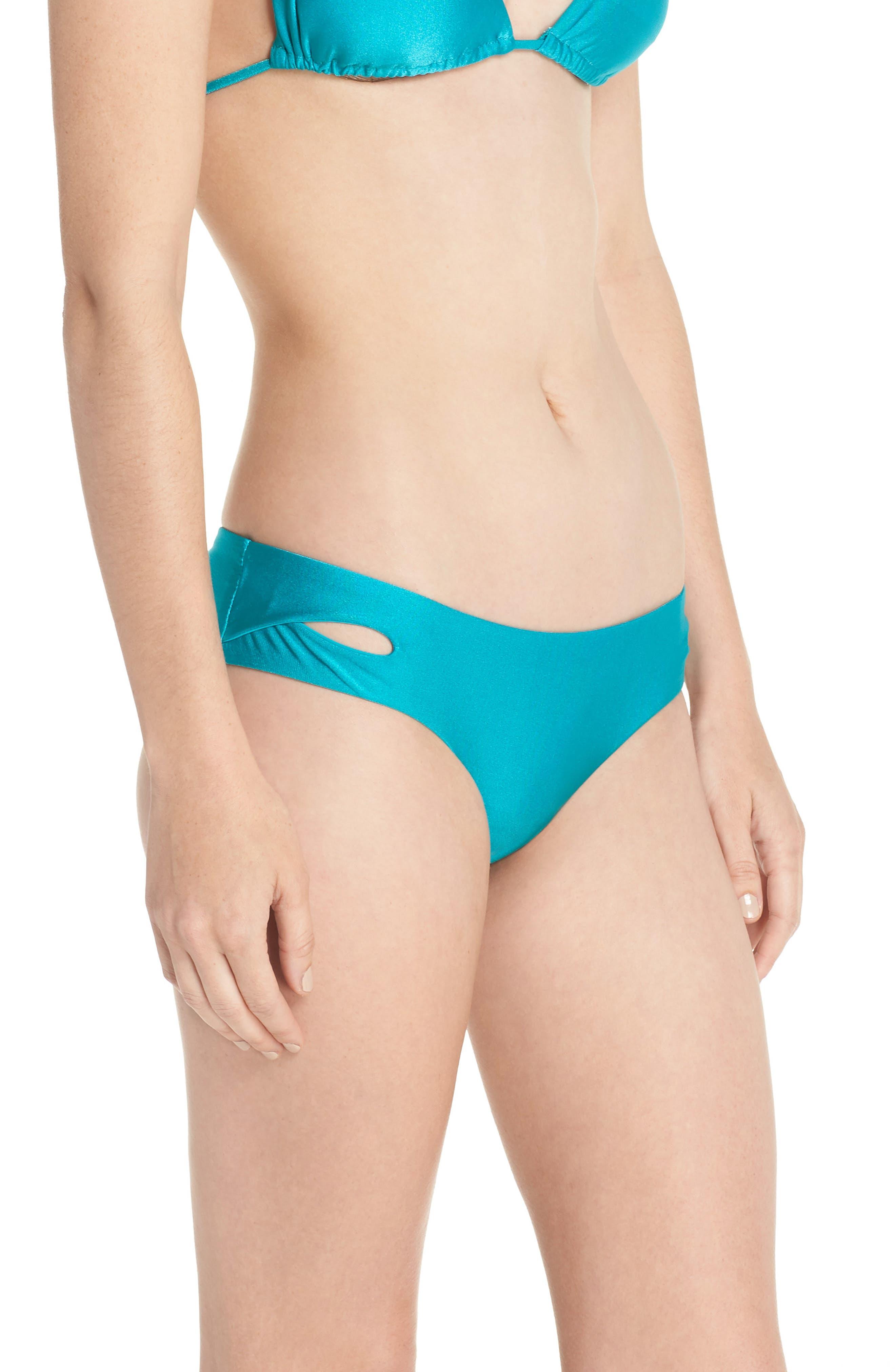 Shimmer Hipster Bikini Bottoms,                             Alternate thumbnail 3, color,                             Arcadia
