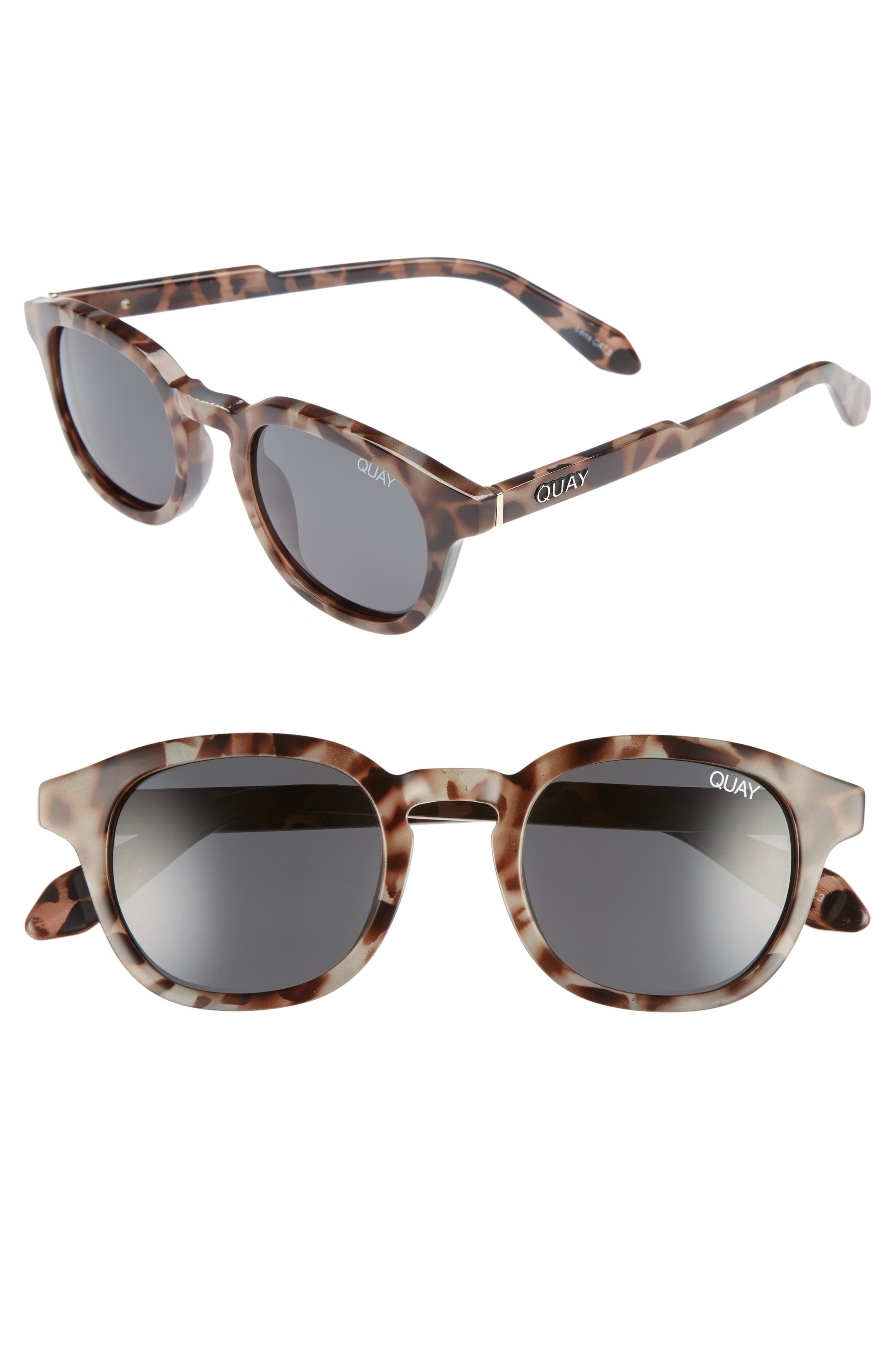Walk On 47mm Polarized Sunglasses,                         Main,                         color, Tortoise / Smoke Lens