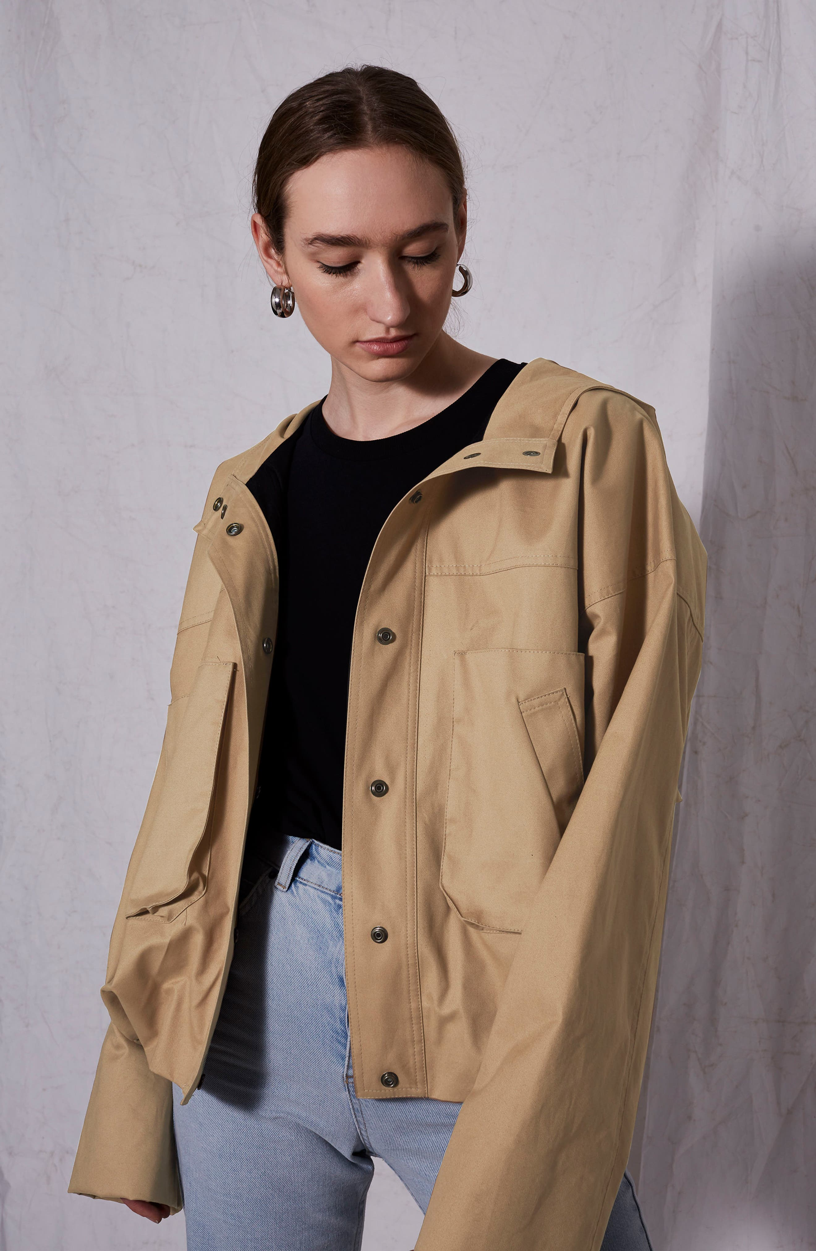 Cropped Parka,                         Main,                         color, Stone
