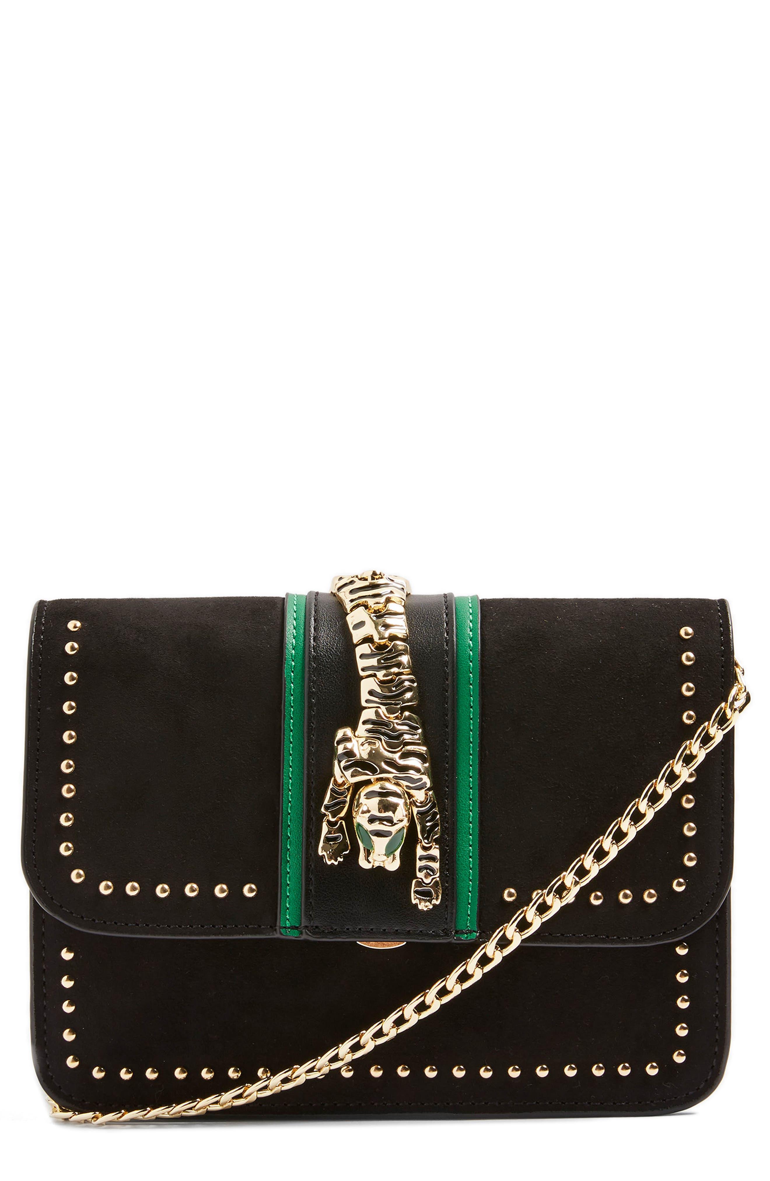 Tiger Crossbody Bag,                             Main thumbnail 1, color,                             Black Multi