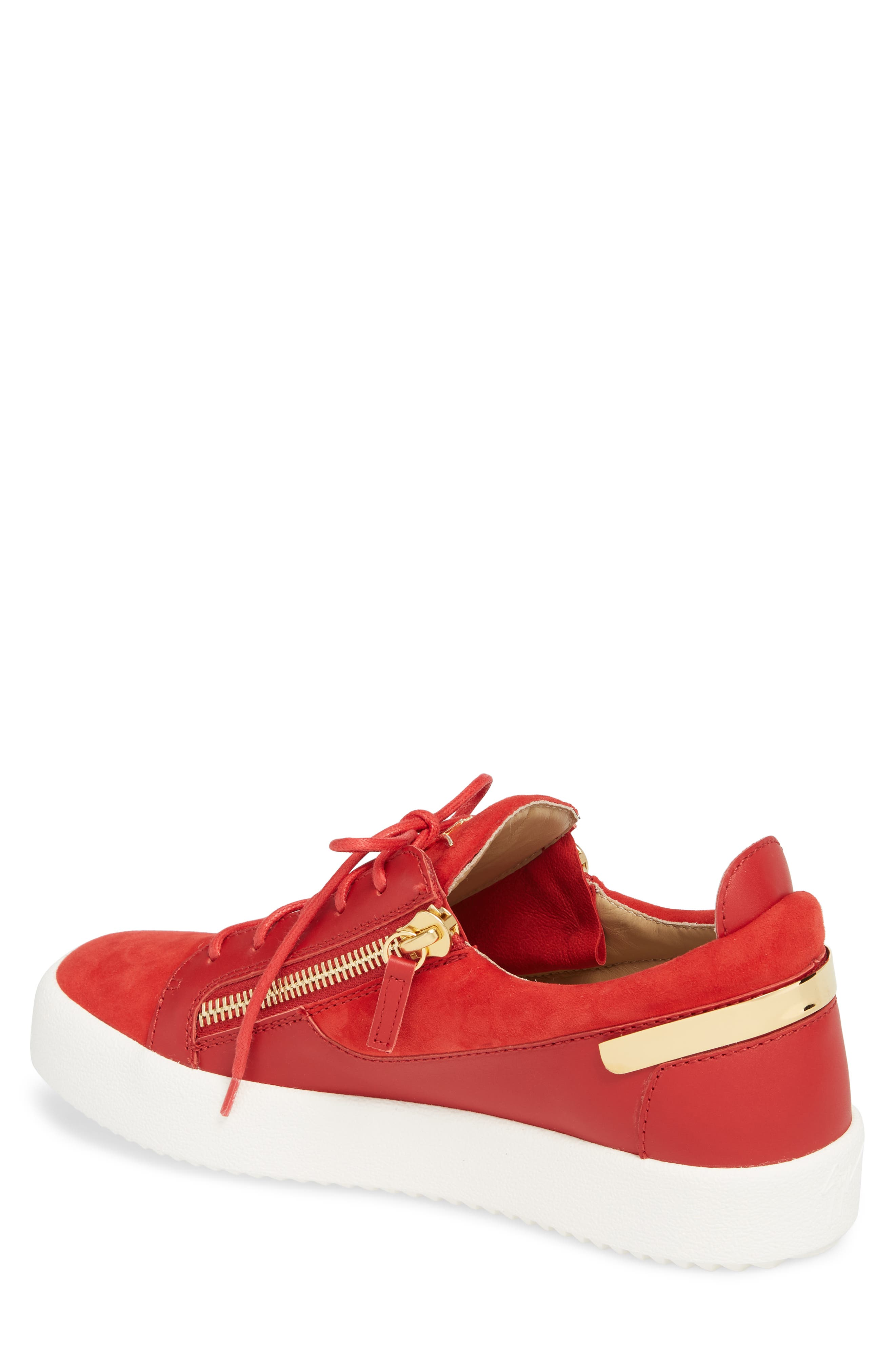 Zip Low Top Sneaker,                             Alternate thumbnail 2, color,                             Fiamma