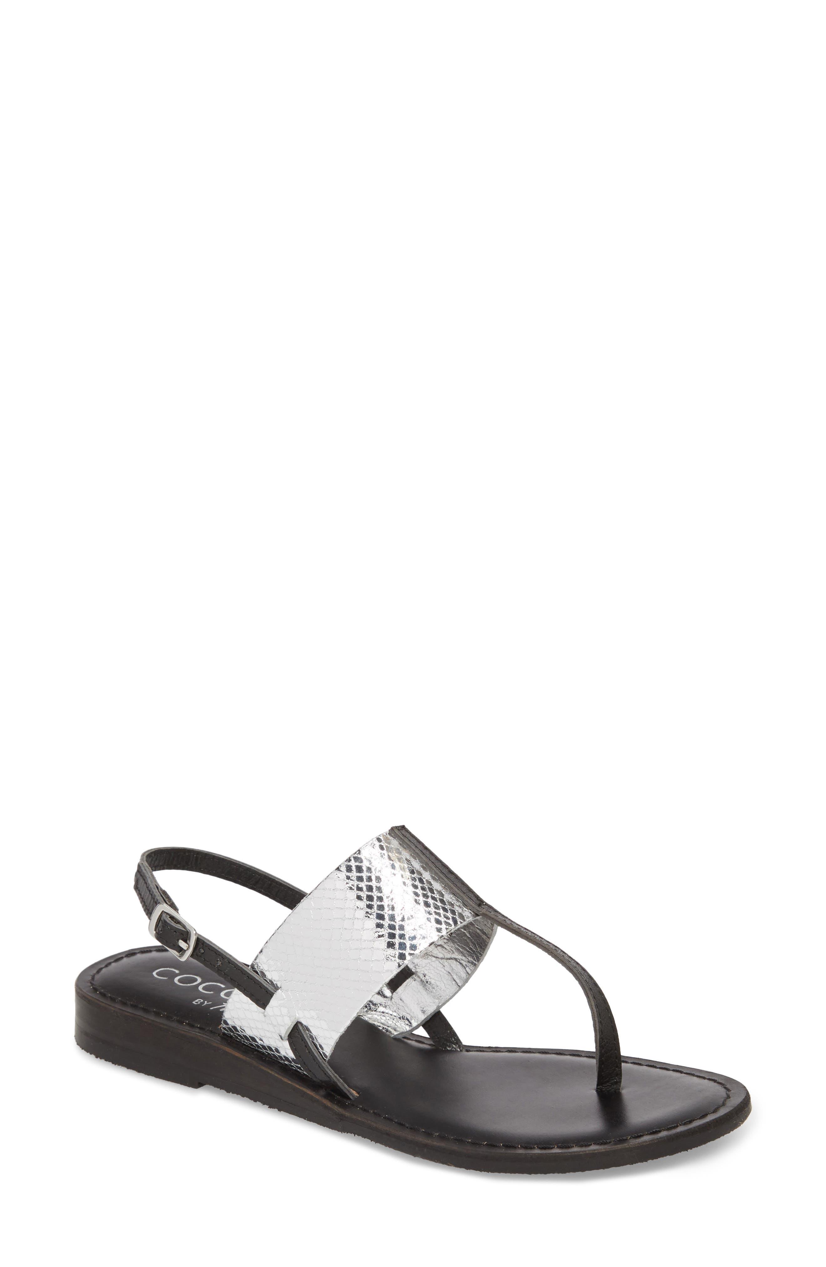 Valenti Sandal,                             Main thumbnail 1, color,                             Black Leather