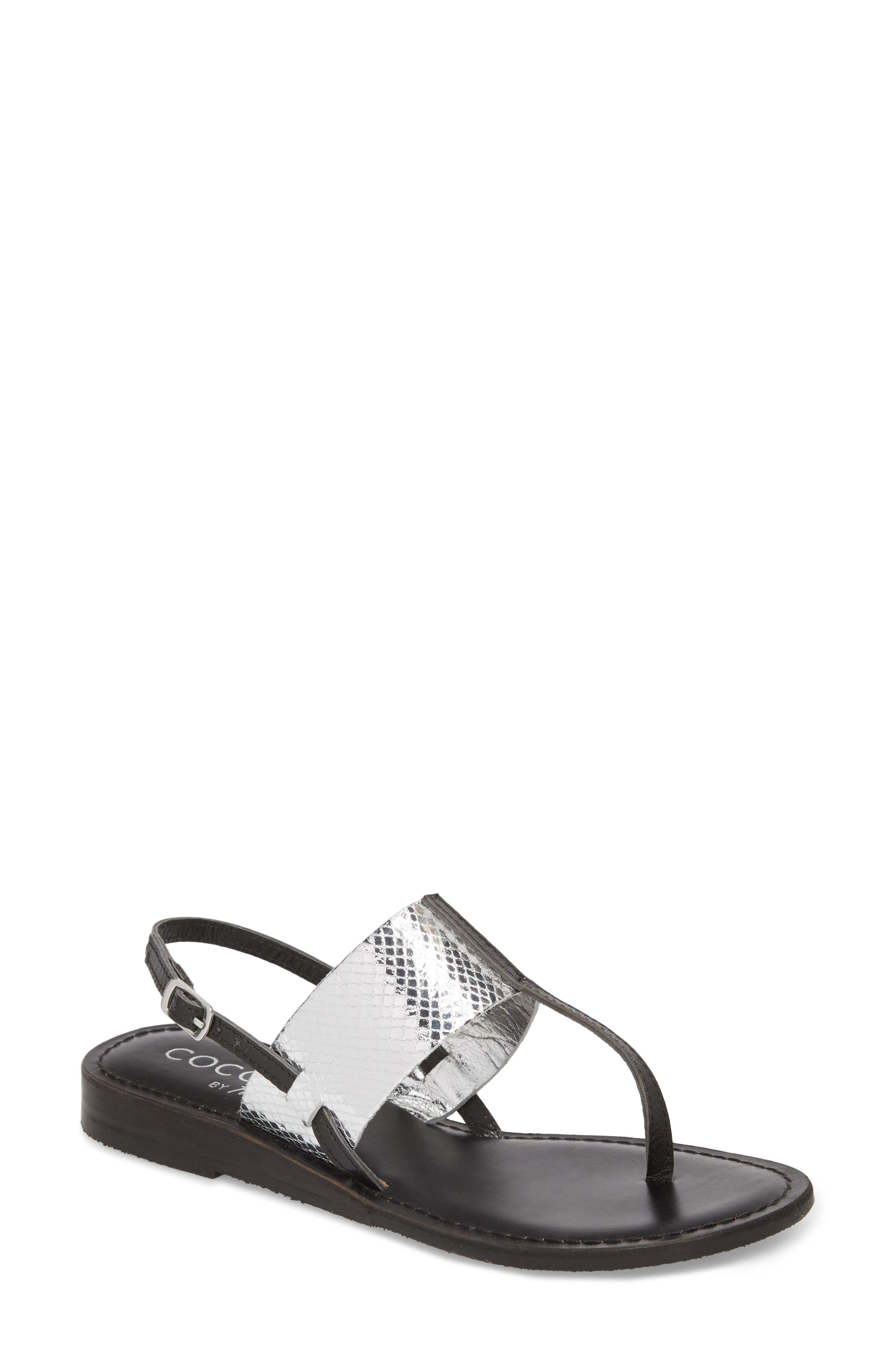 Valenti Sandal,                         Main,                         color, Black Leather