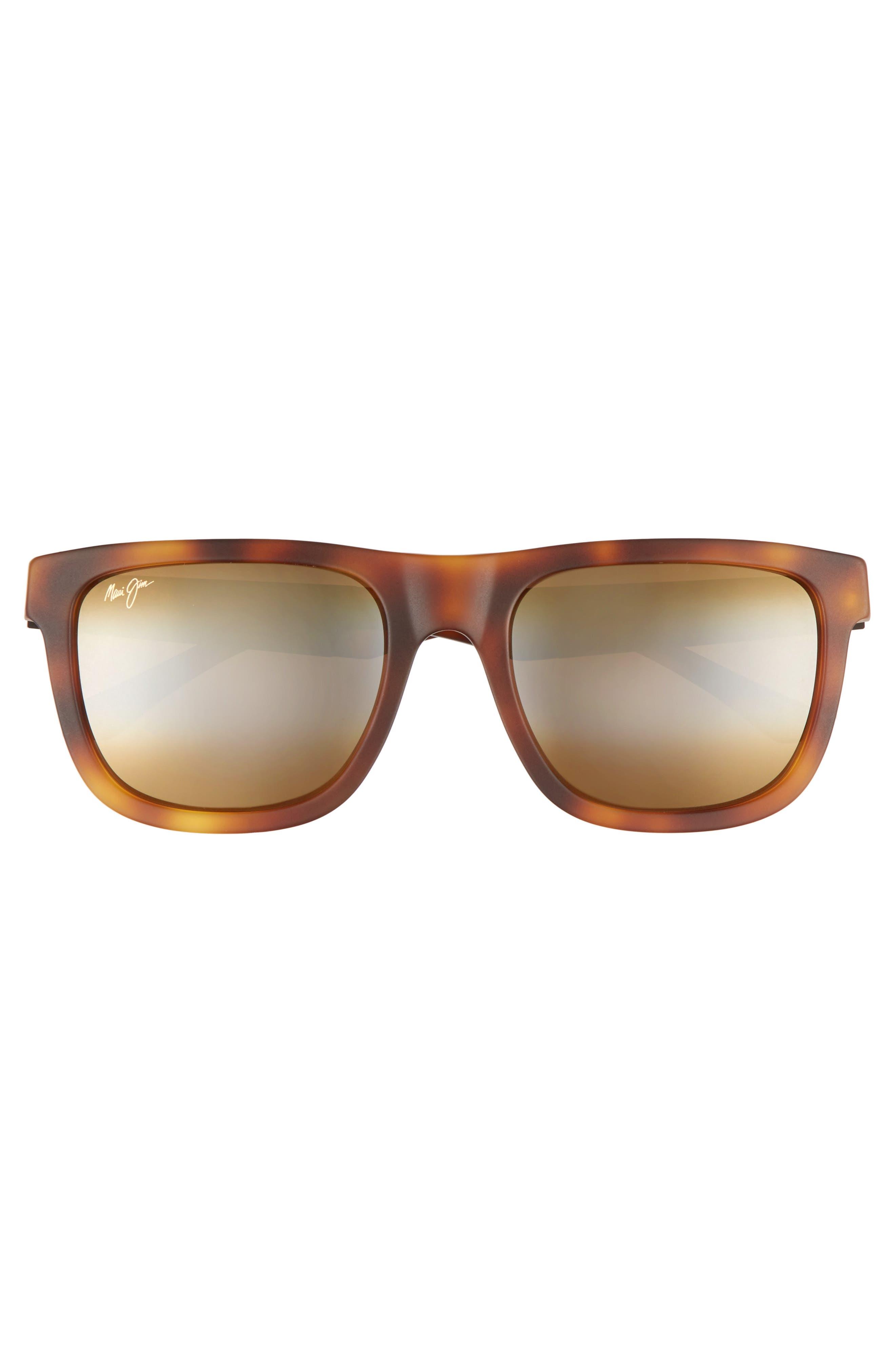 Talk Story 55mm Polarized Sunglasses,                             Alternate thumbnail 2, color,                             Matte Tokyo Tortoise/ Bronze