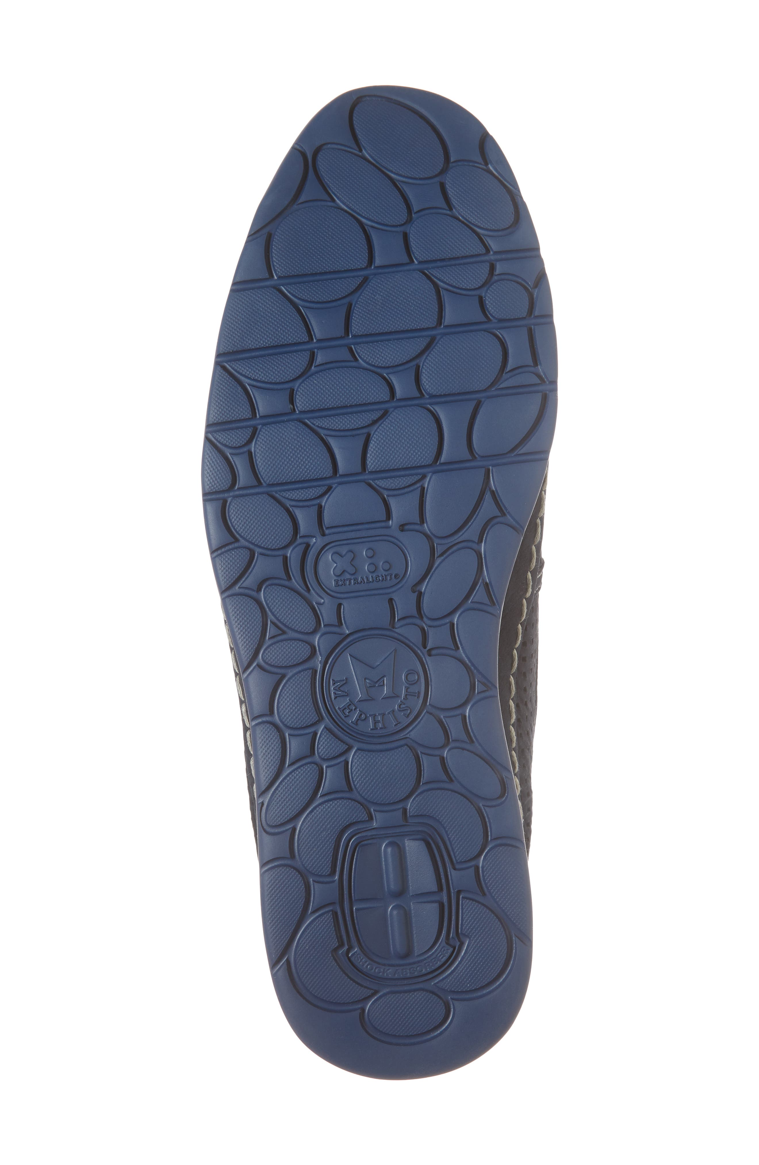 Hadrian Perforated Slip-On,                             Alternate thumbnail 6, color,                             Navy