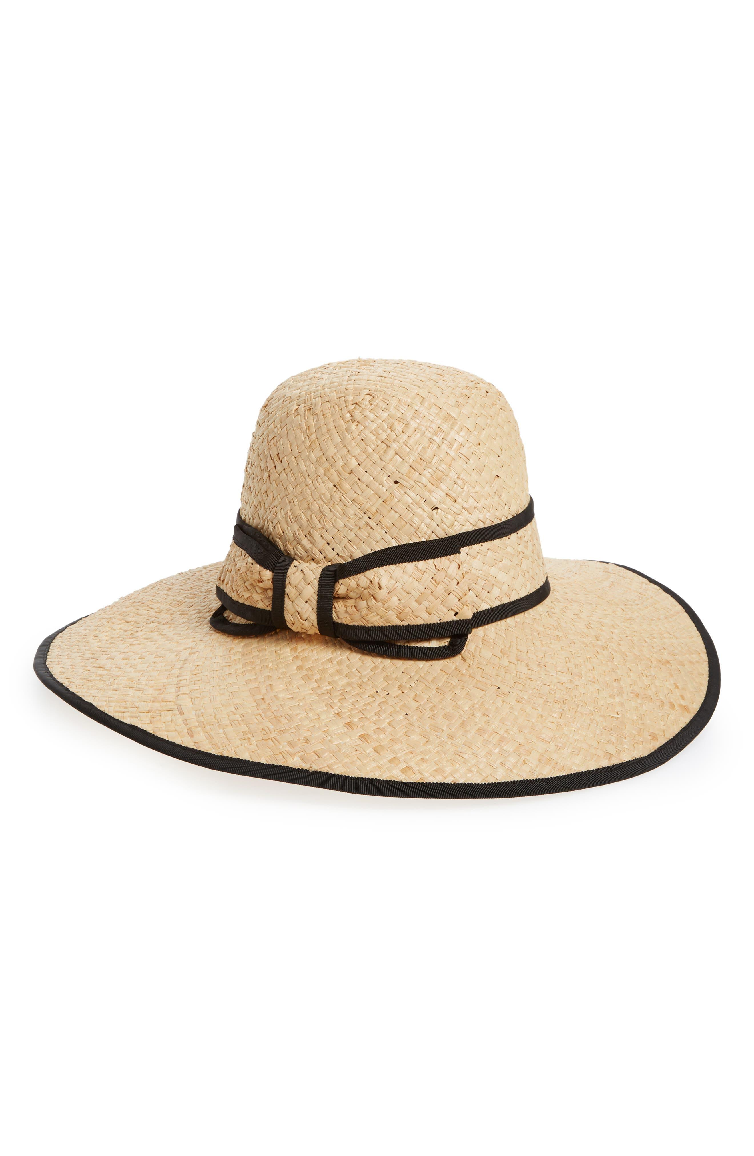 olive drive straw hat,                         Main,                         color, Natural/ Black