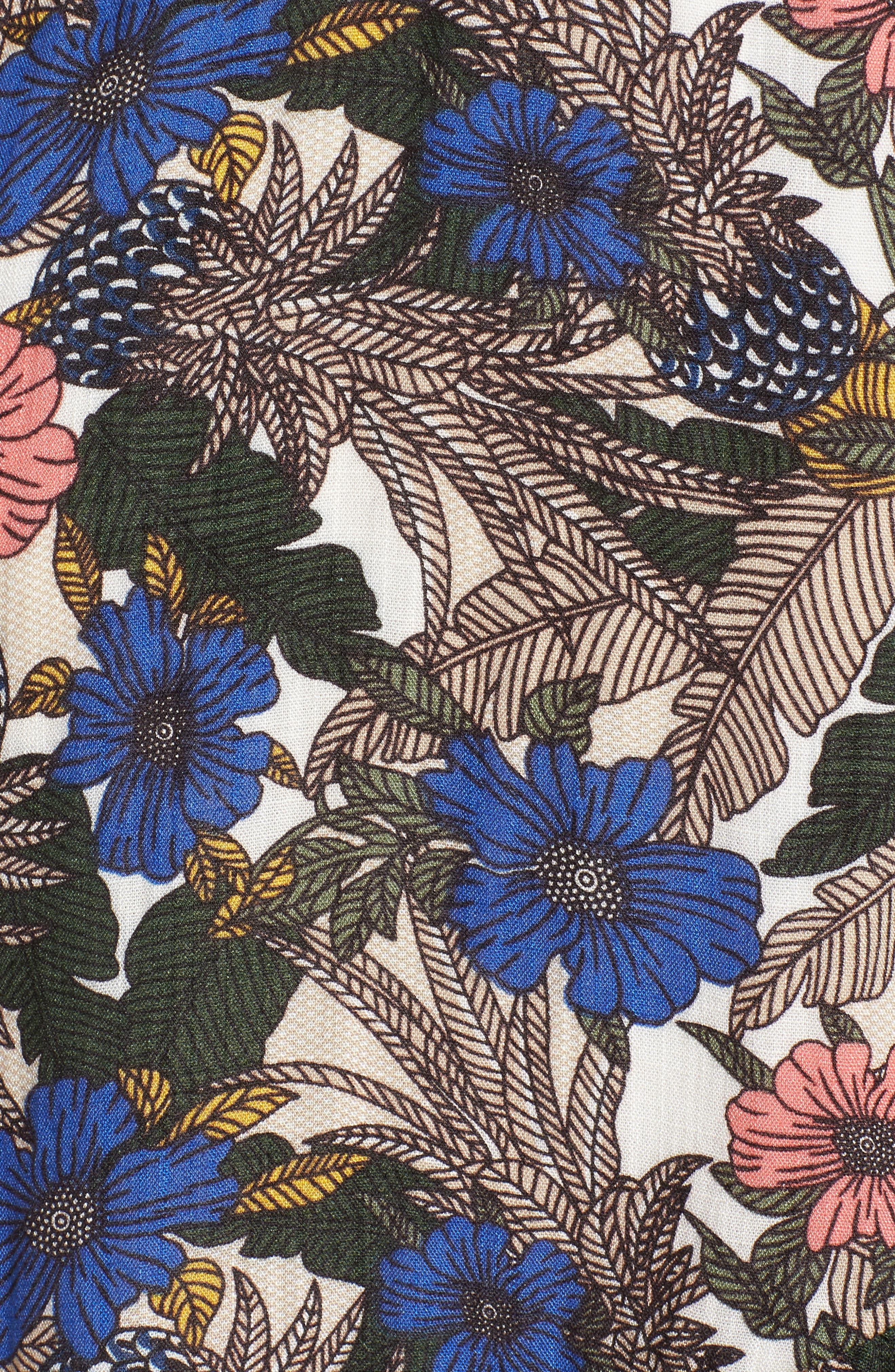 Siesta Wrap Minidress,                             Alternate thumbnail 6, color,                             Blue Multi