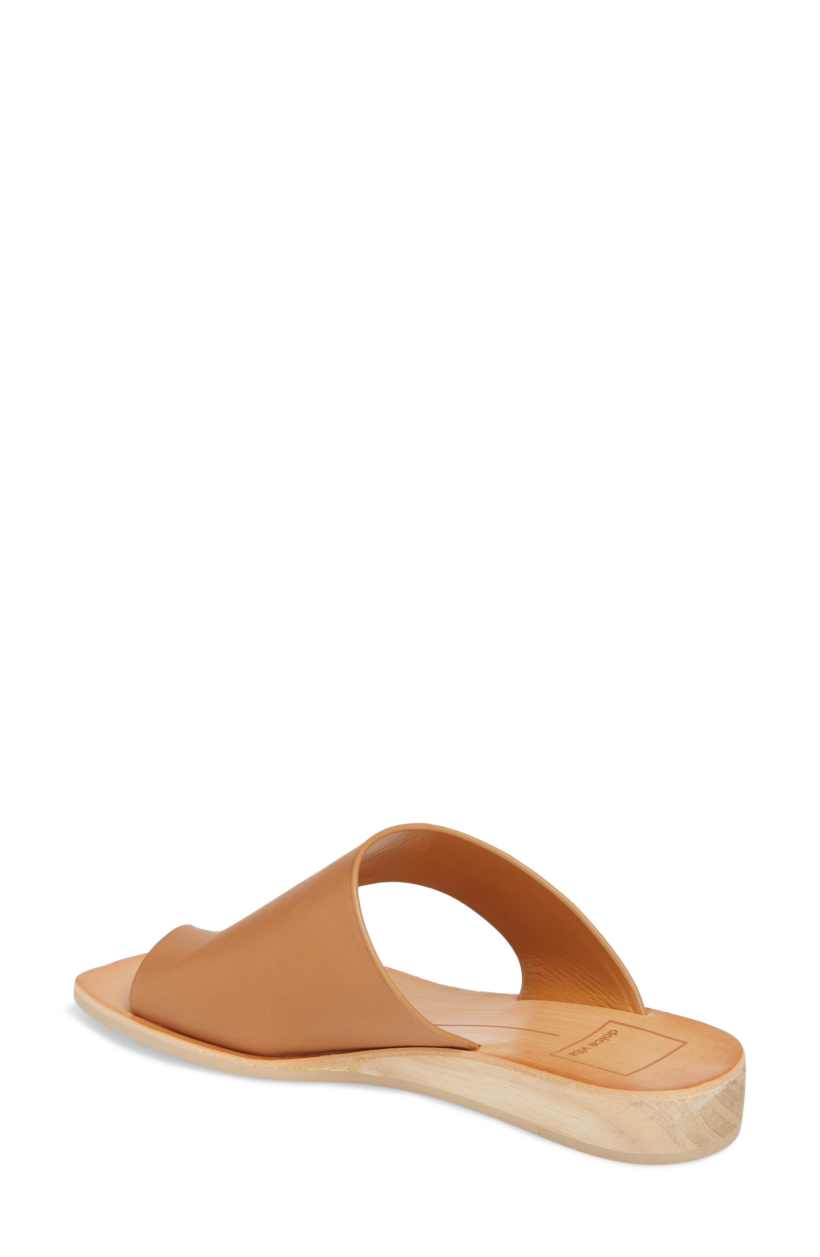 Hazle Asymmetrical Toe Loop Sandal,                             Alternate thumbnail 2, color,                             Caramel