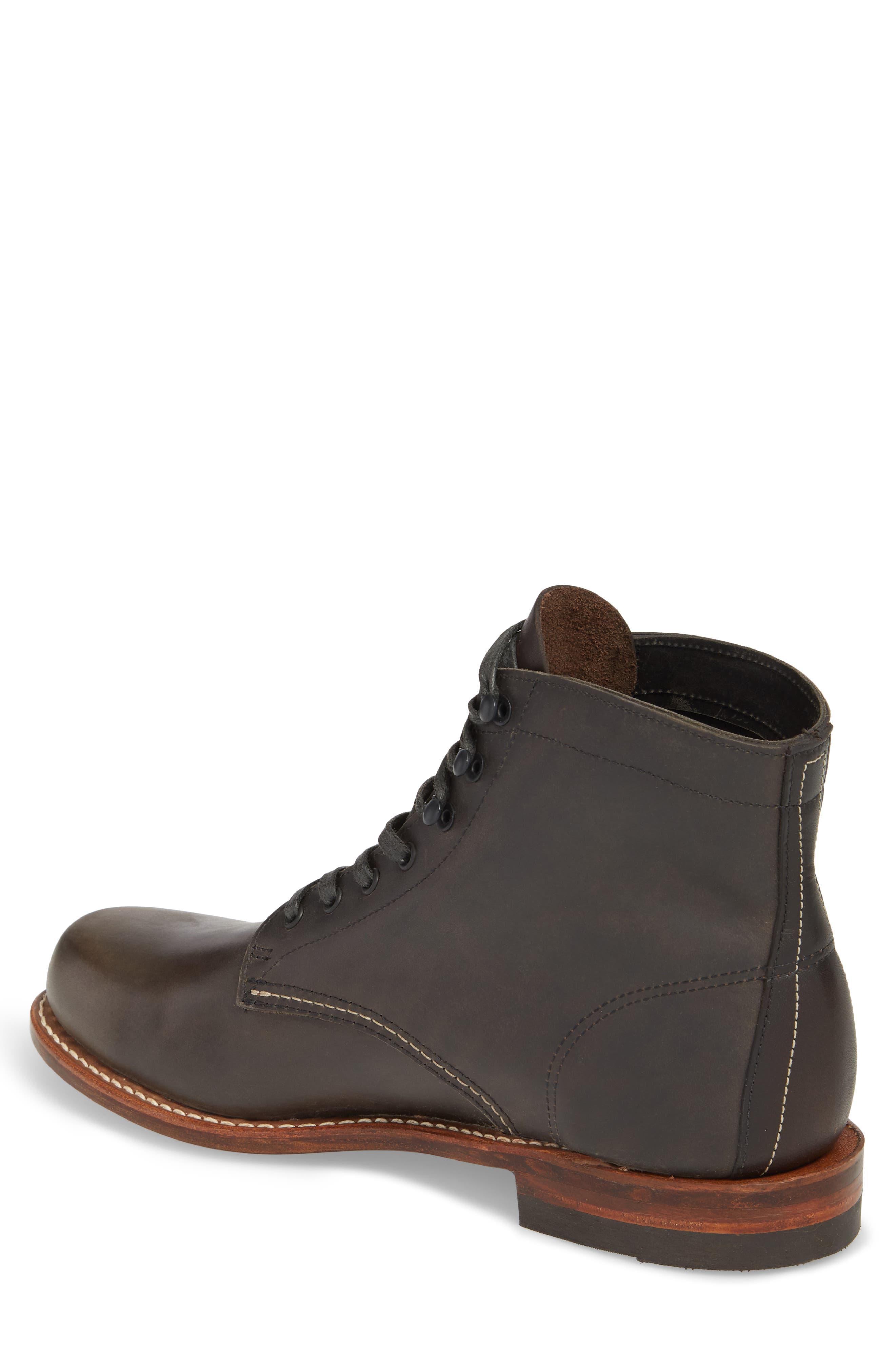 '1000 Mile' Plain Toe Boot,                             Alternate thumbnail 3, color,                             Charcoal