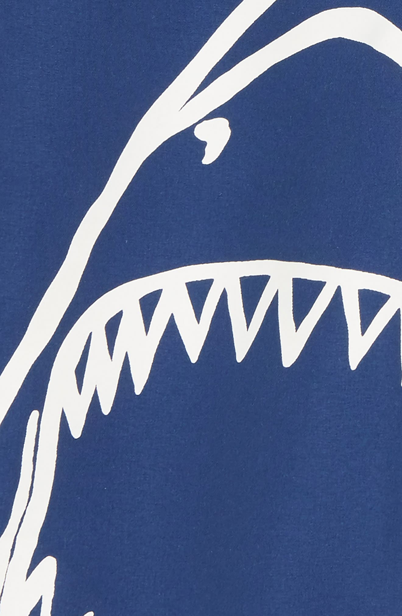Shark Board Shorts,                             Alternate thumbnail 2, color,                             Electric Blue Lemonade
