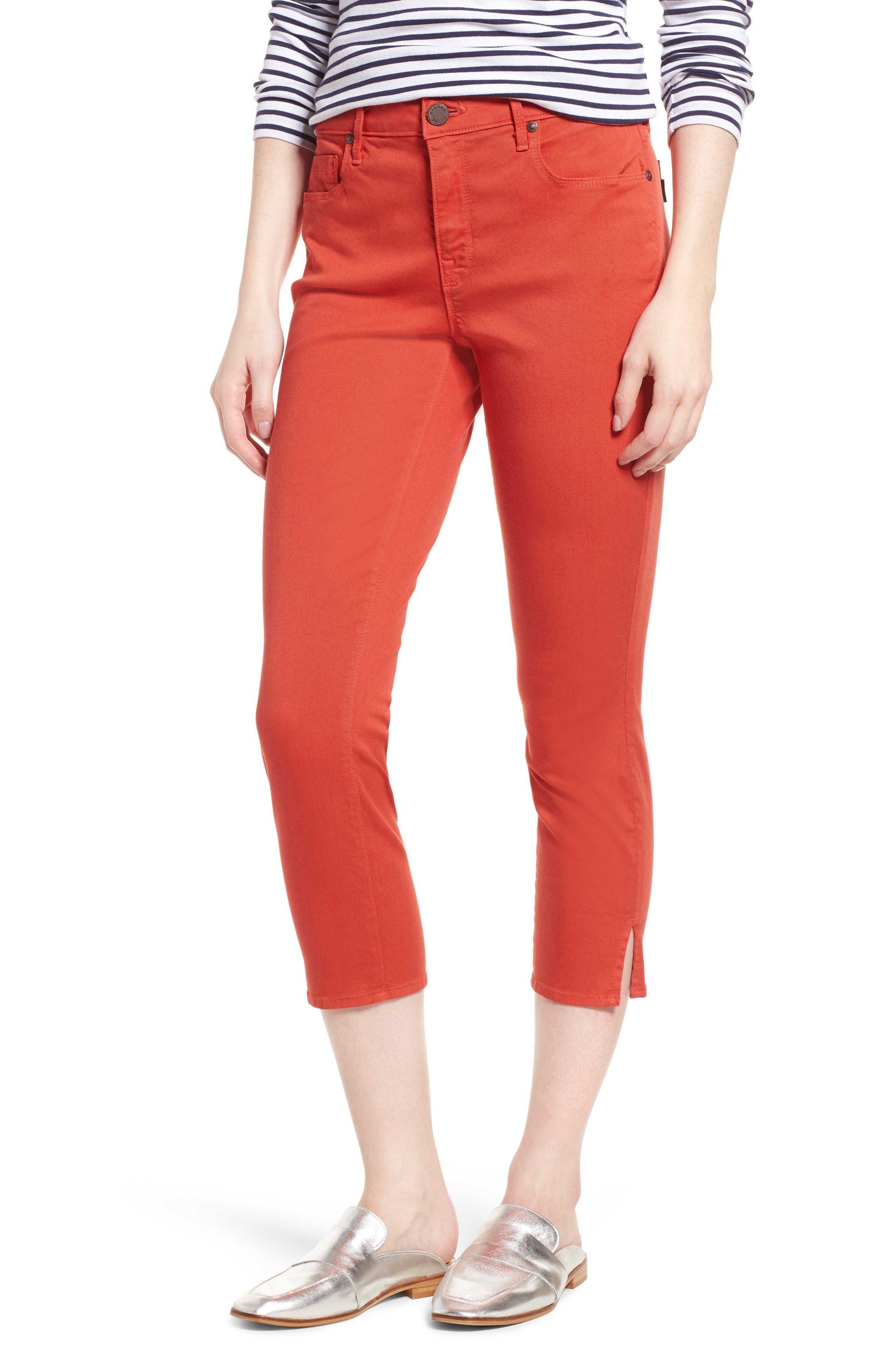 Pedal Pusher Crop Jeans,                             Main thumbnail 1, color,                             Sunburst