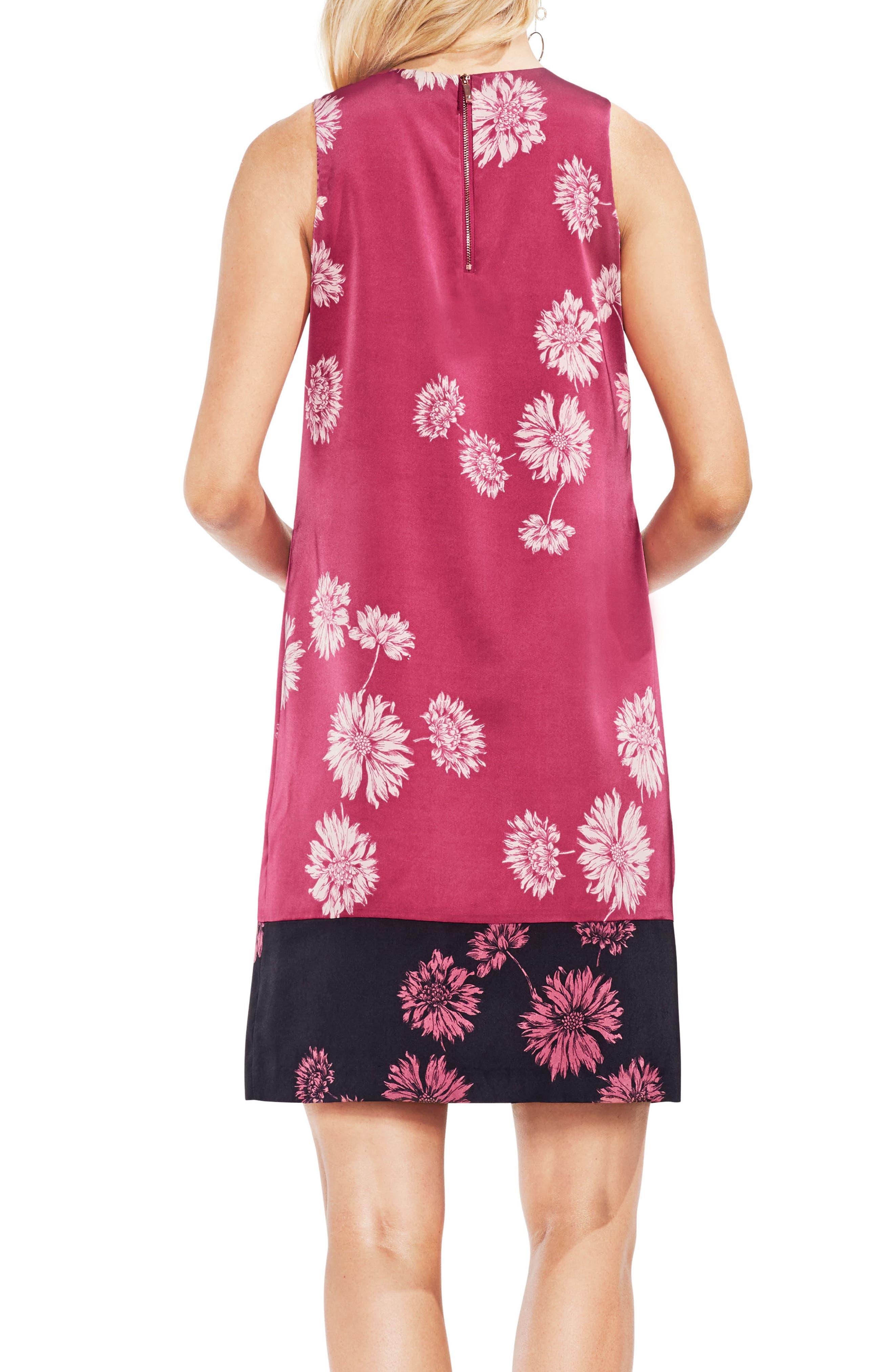 Chateau Floral Shift Dress,                             Alternate thumbnail 2, color,                             888-Pink Rose