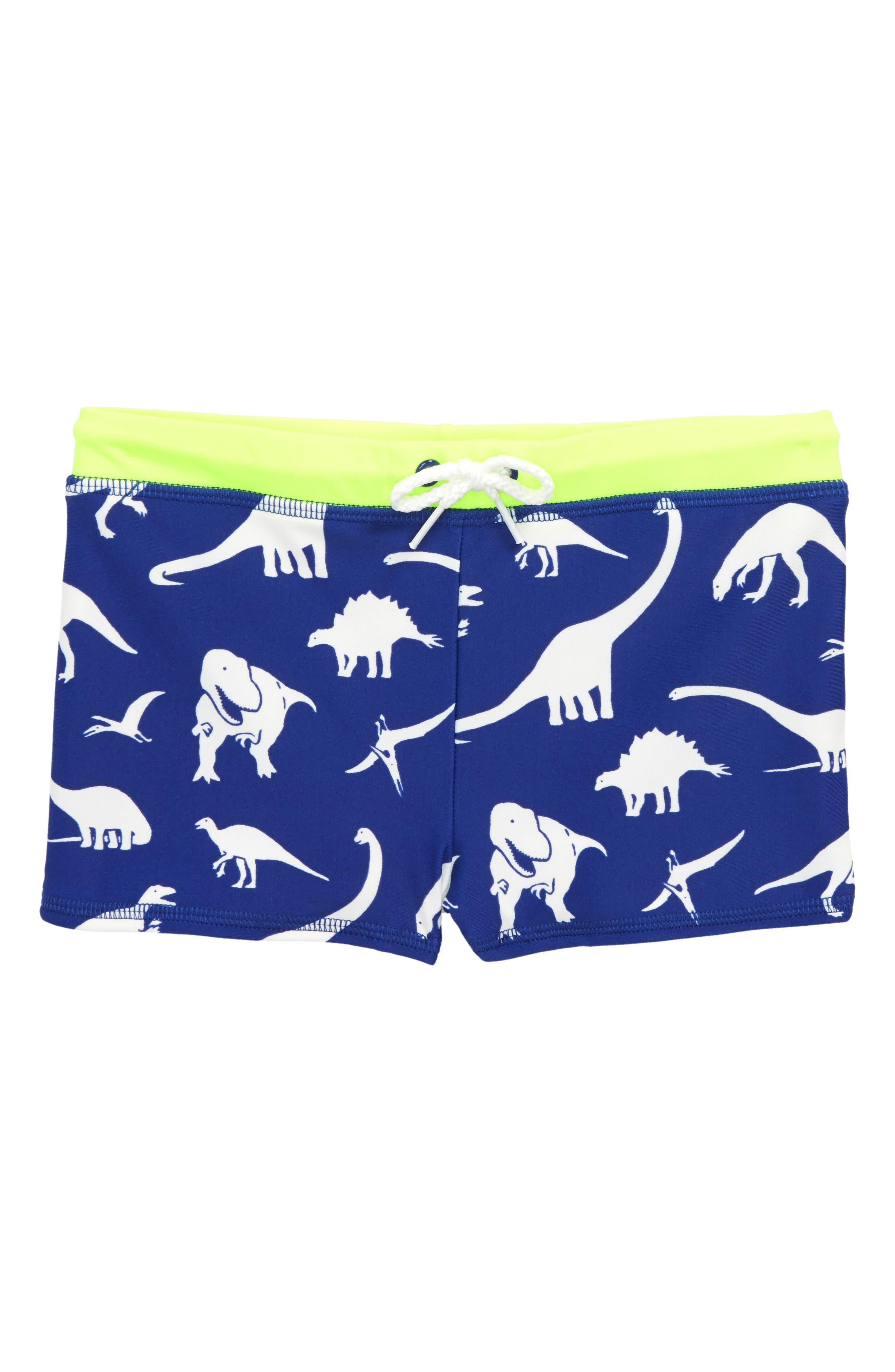Dino Swim Trunks,                         Main,                         color, Royal Blue Roarsome Friends