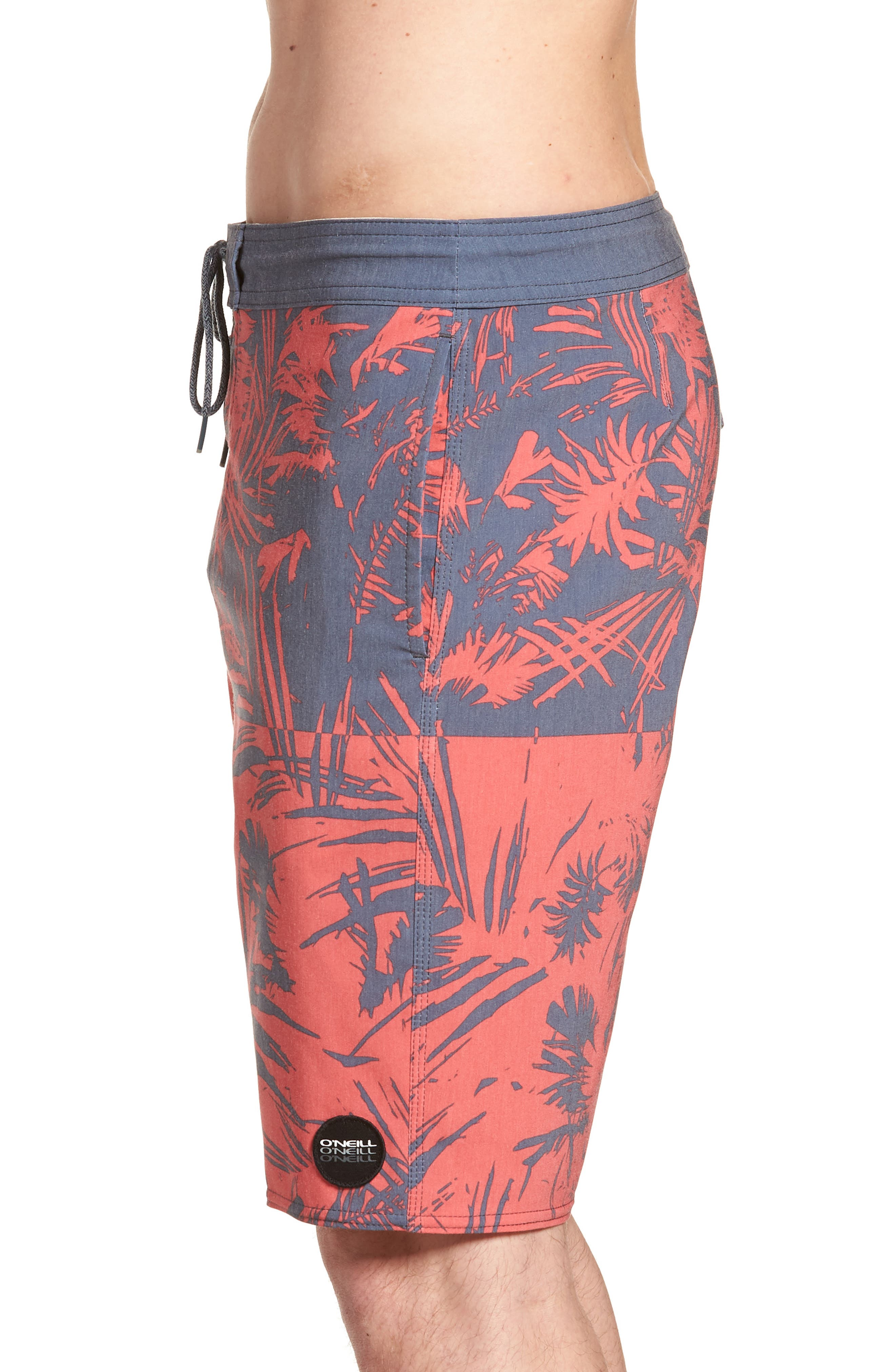 Inverted Cruzer Board Shorts,                             Alternate thumbnail 3, color,                             Faded Red