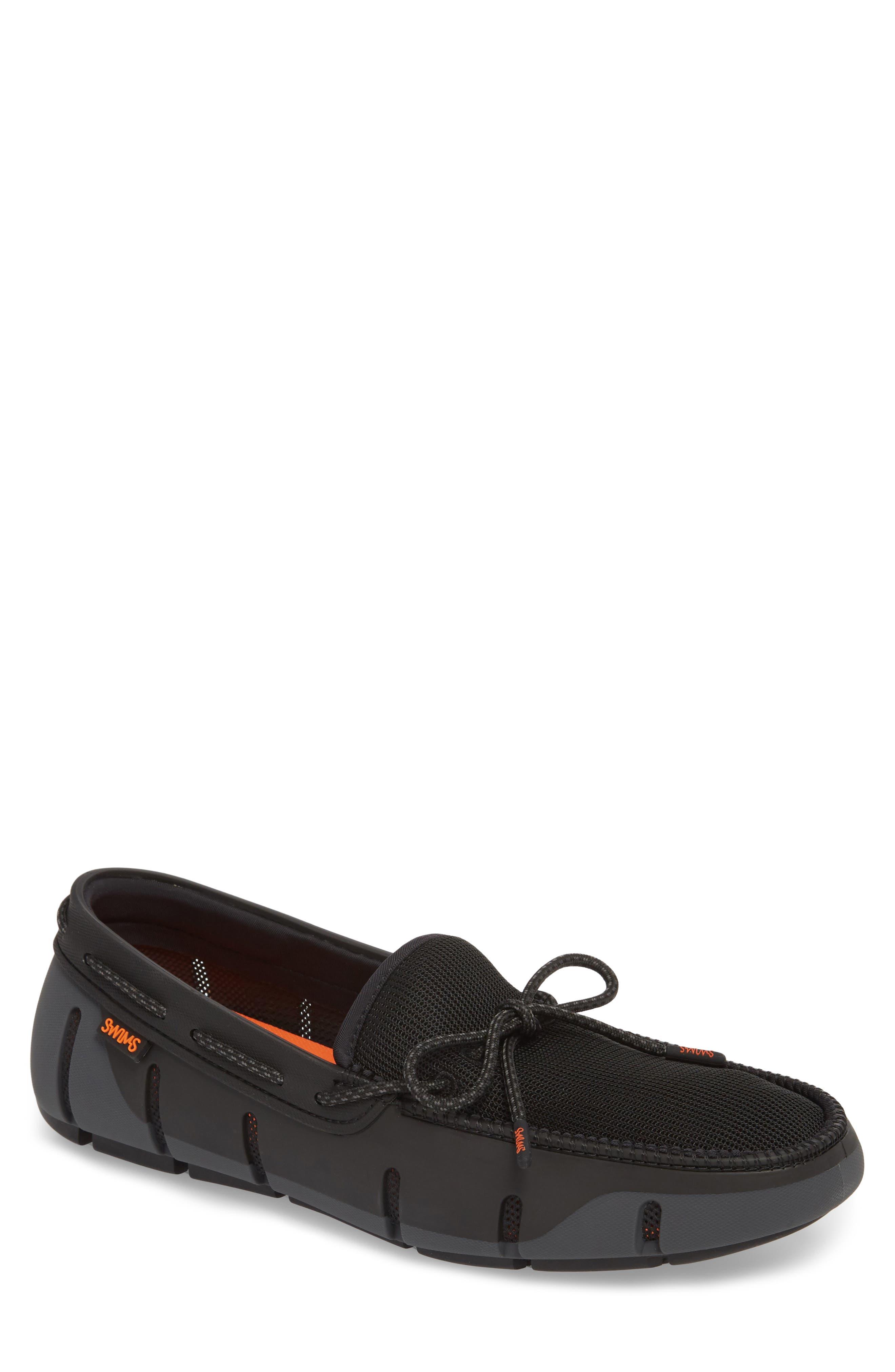 Stride Lace Loafer,                         Main,                         color, Black / Graphite Fleck