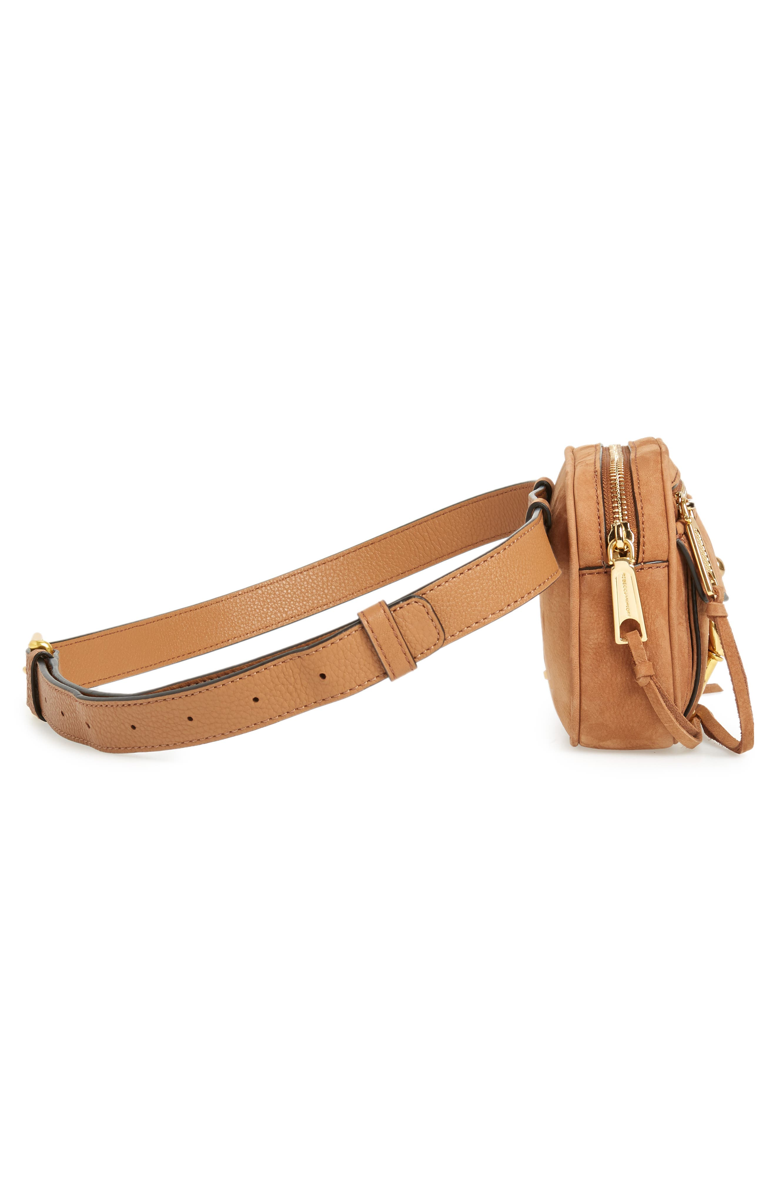 Blythe Leather Belt Bag,                             Alternate thumbnail 6, color,                             Almond