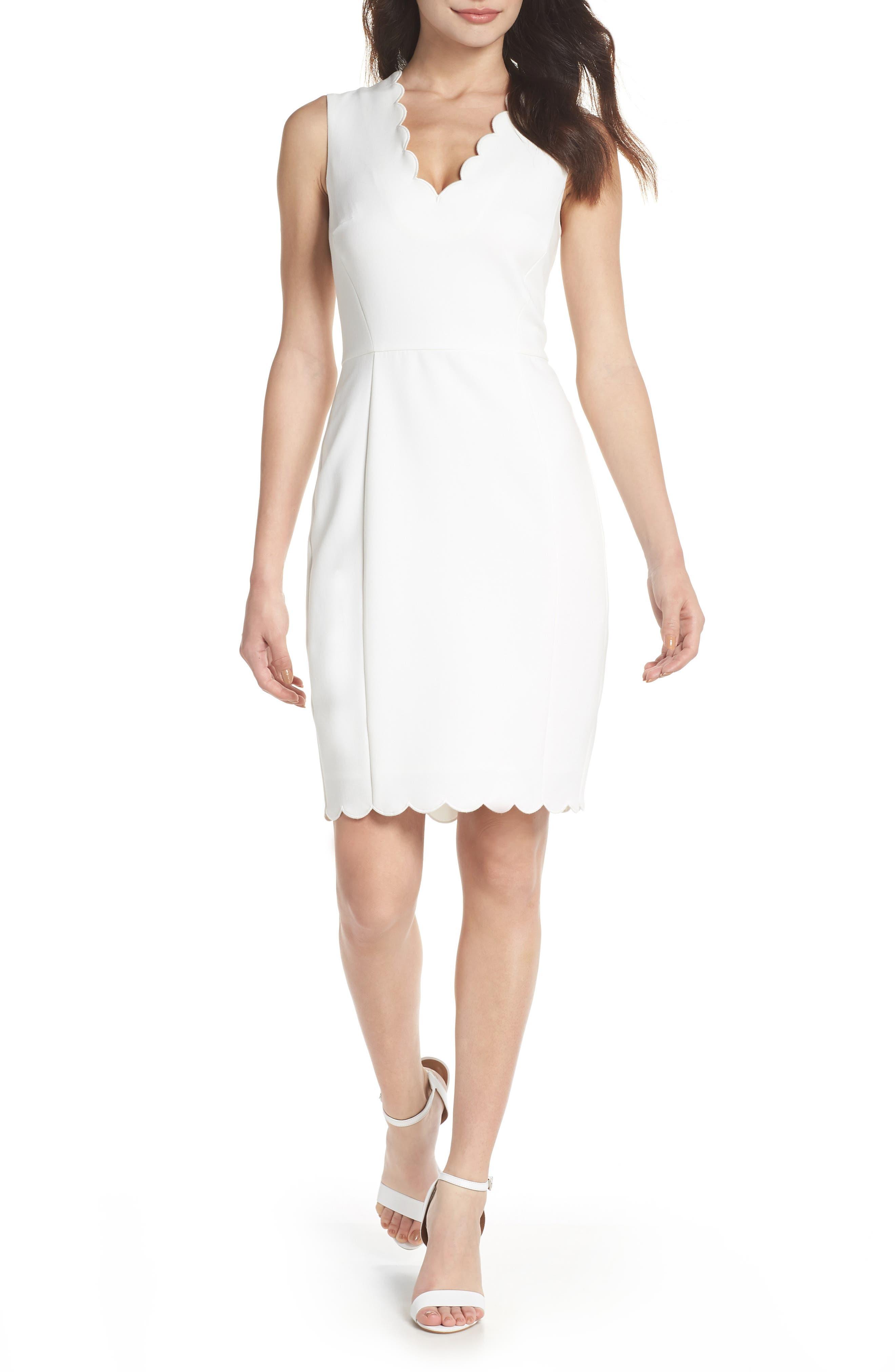 Whisper Ruth Sheath Dress, Main, color, Summer White