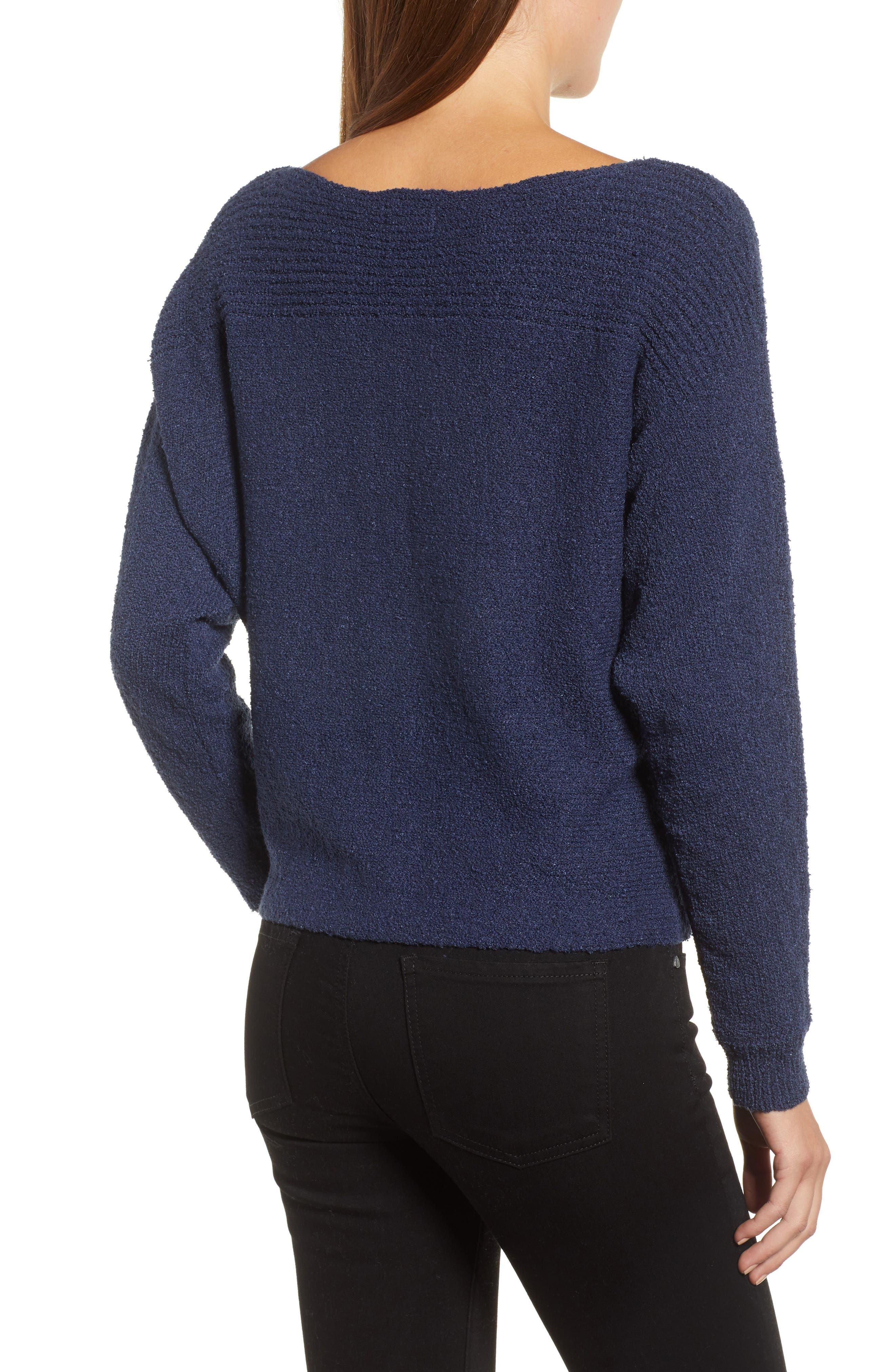 Calson<sup>®</sup> Dolman Sleeve Sweater,                             Alternate thumbnail 2, color,                             Navy Indigo