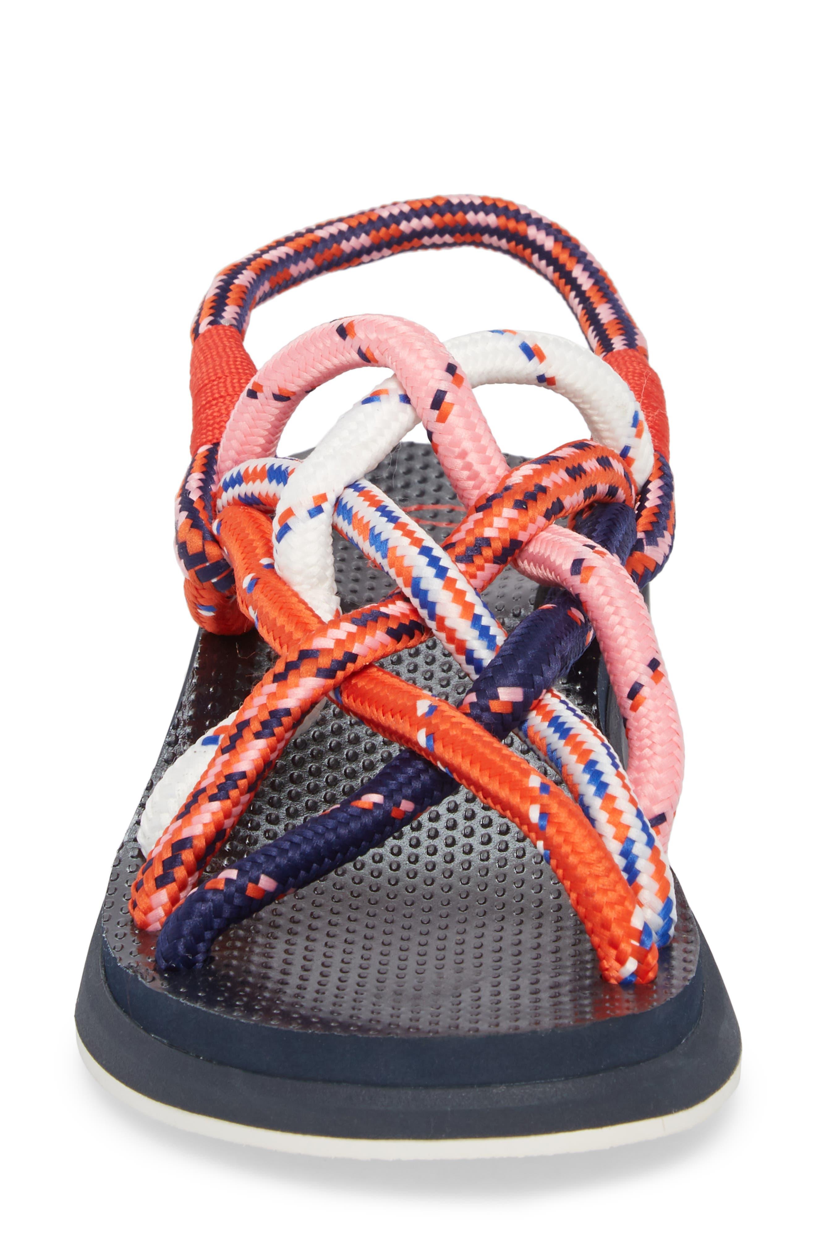 Rope Sandal,                             Alternate thumbnail 4, color,                             Red Multi