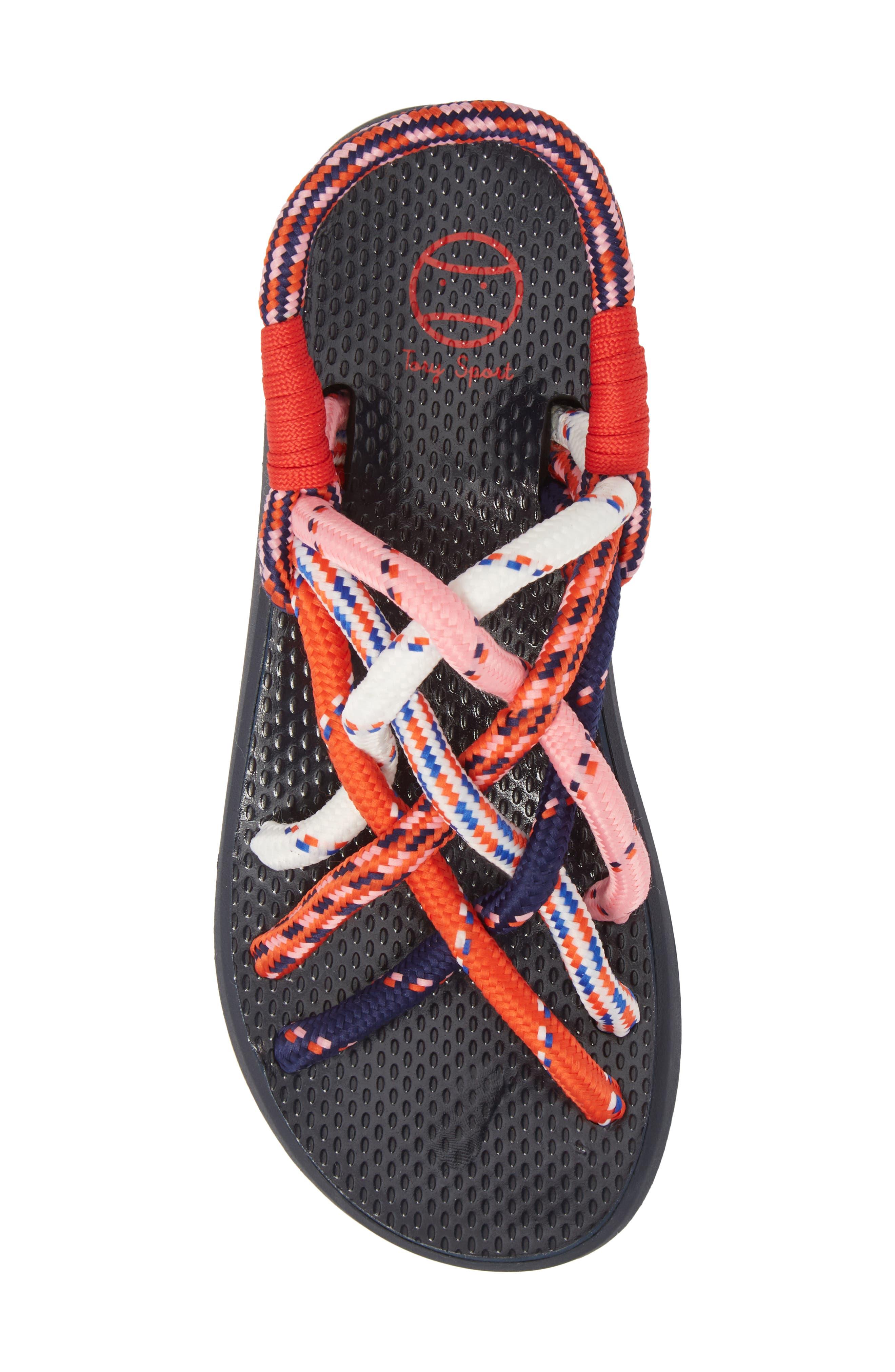Rope Sandal,                             Alternate thumbnail 5, color,                             Red Multi