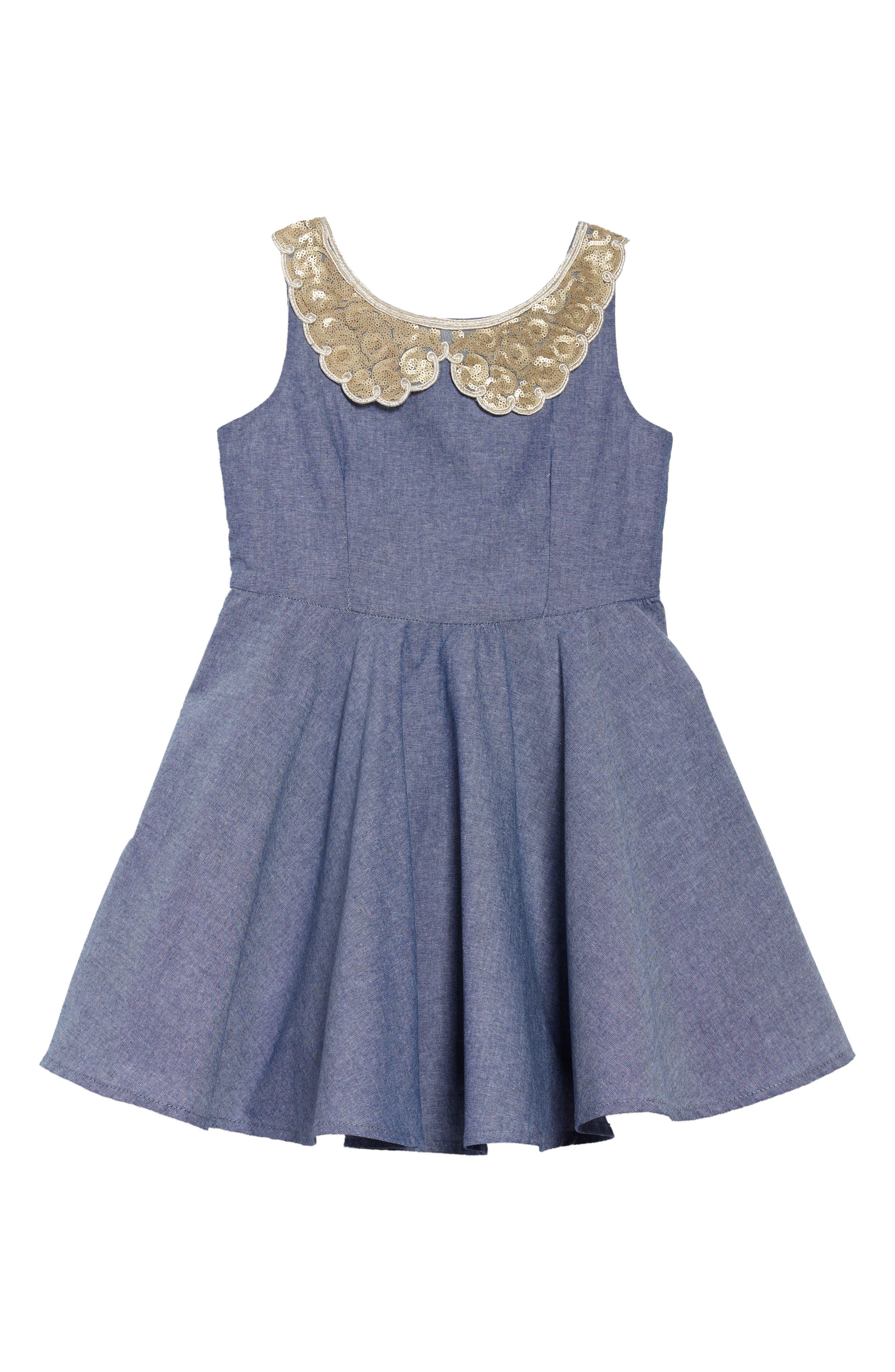 Main Image - Fiveloaves Twofish Darcy Chambray Dress (Toddler Girls, Little Girls & Big Girls)