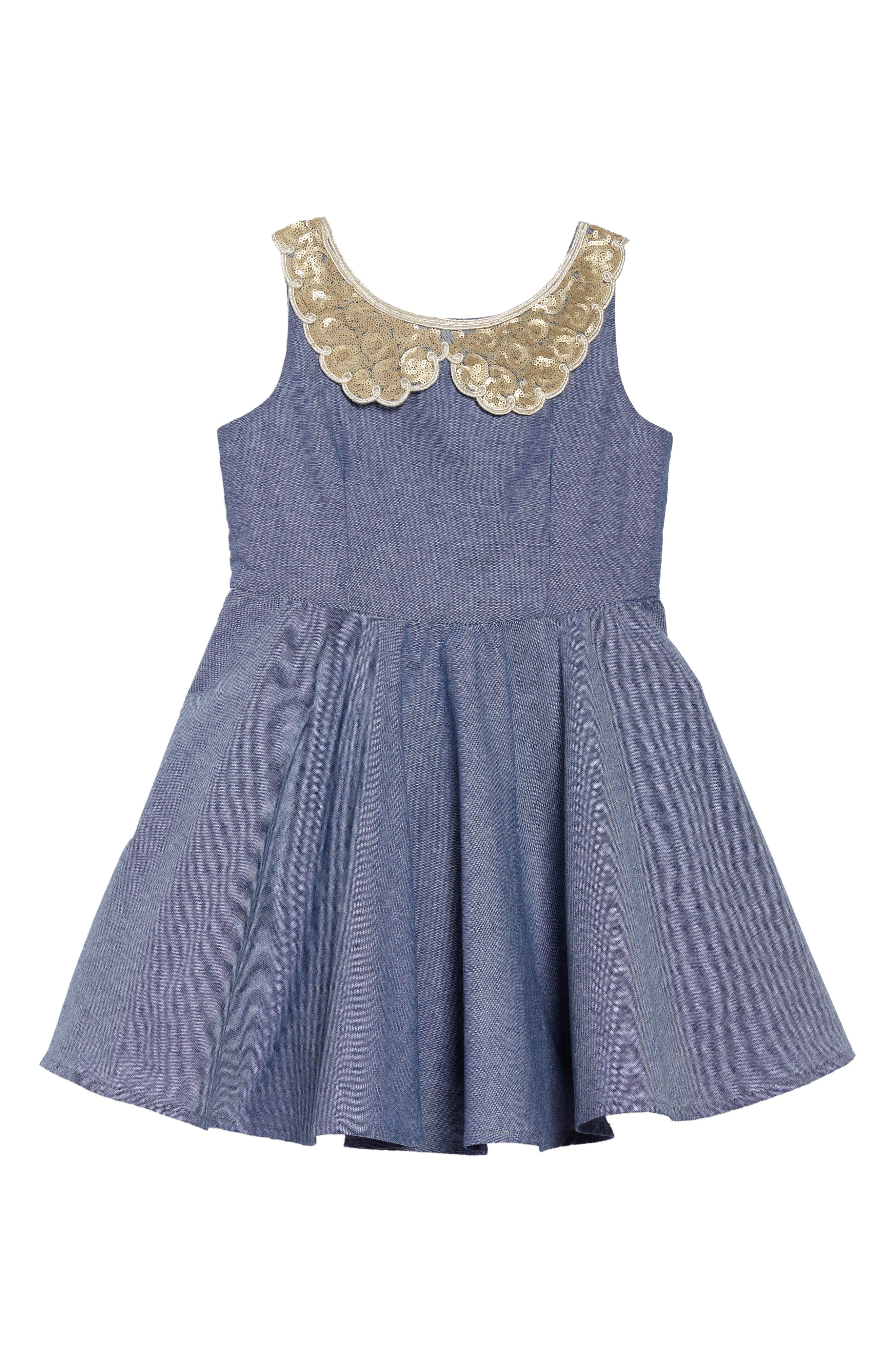 Fiveloaves Twofish Darcy Chambray Dress (Toddler Girls, Little Girls & Big Girls)