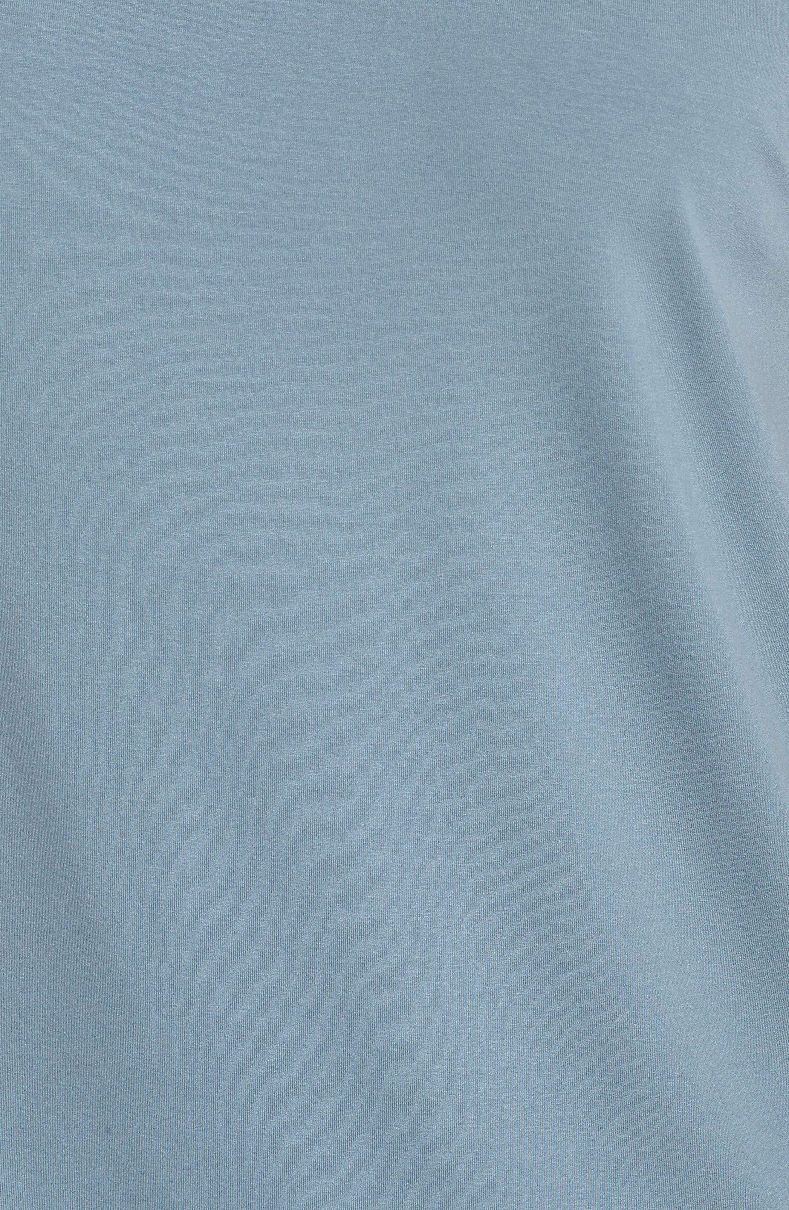 Asymmetrical Jersey Top,                             Alternate thumbnail 6, color,                             Blue Steel