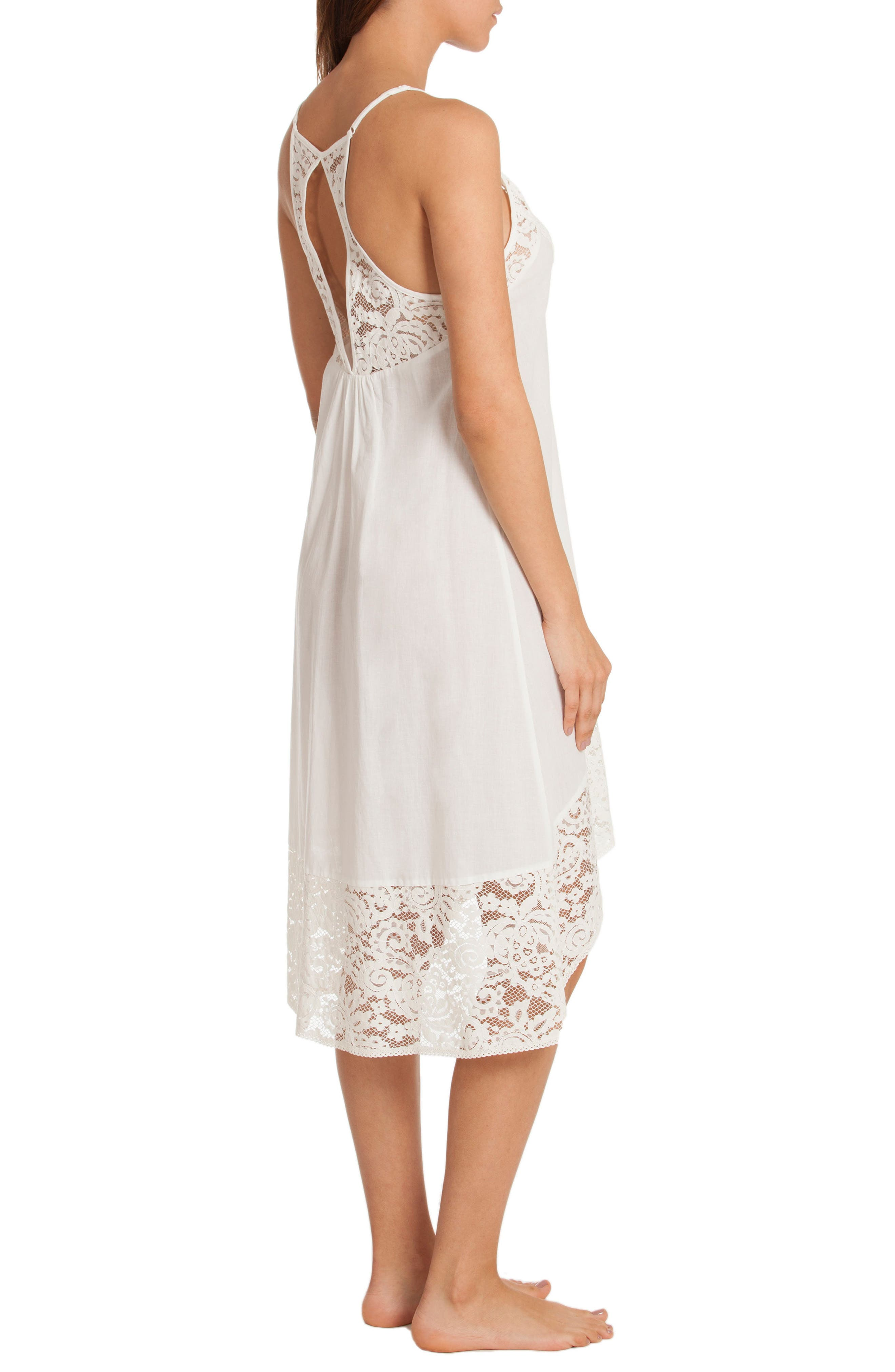 Nightgown,                             Alternate thumbnail 2, color,                             Ivory/ Beige