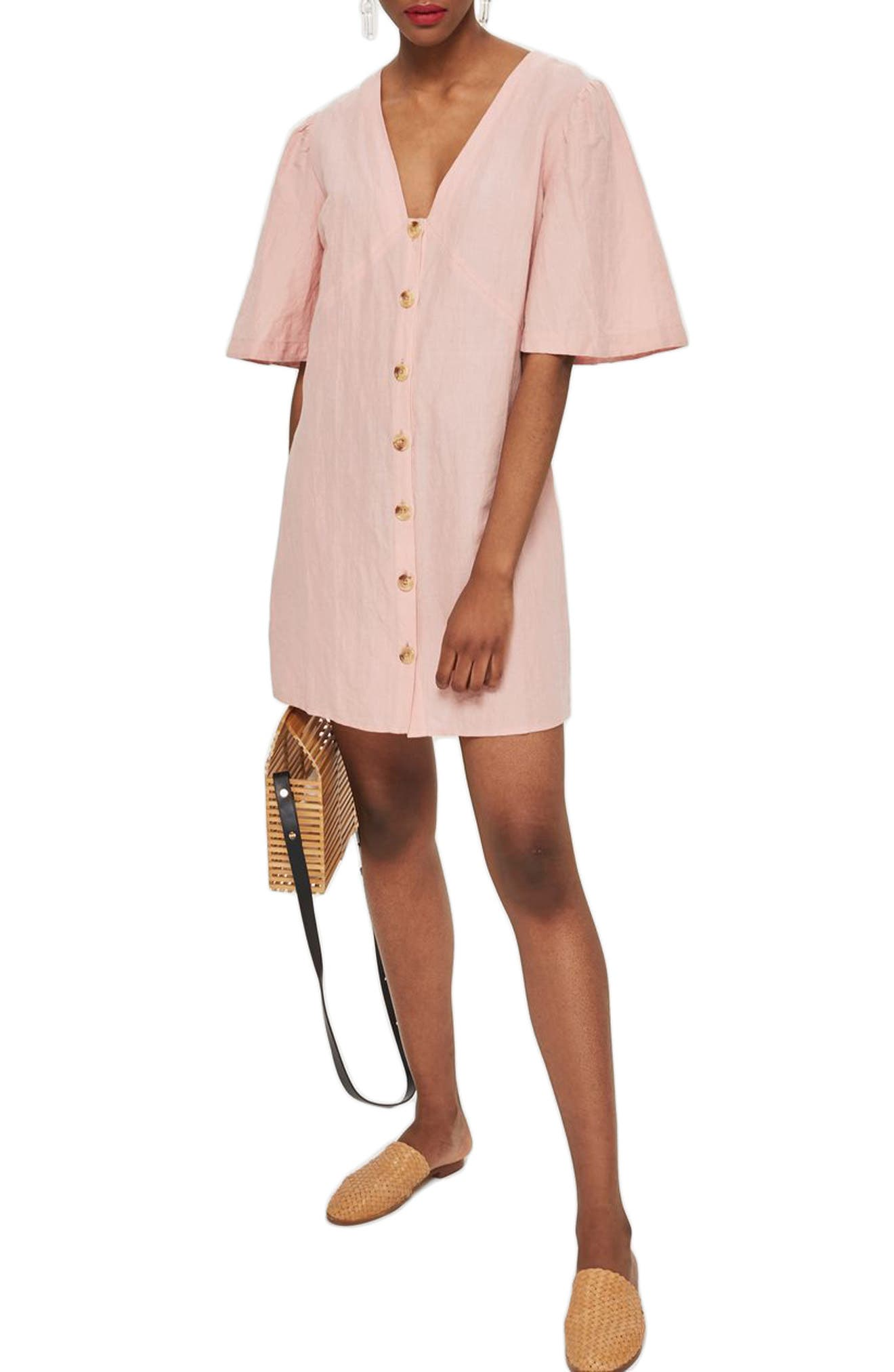 Topshop Angel Sleeve Shift Dress