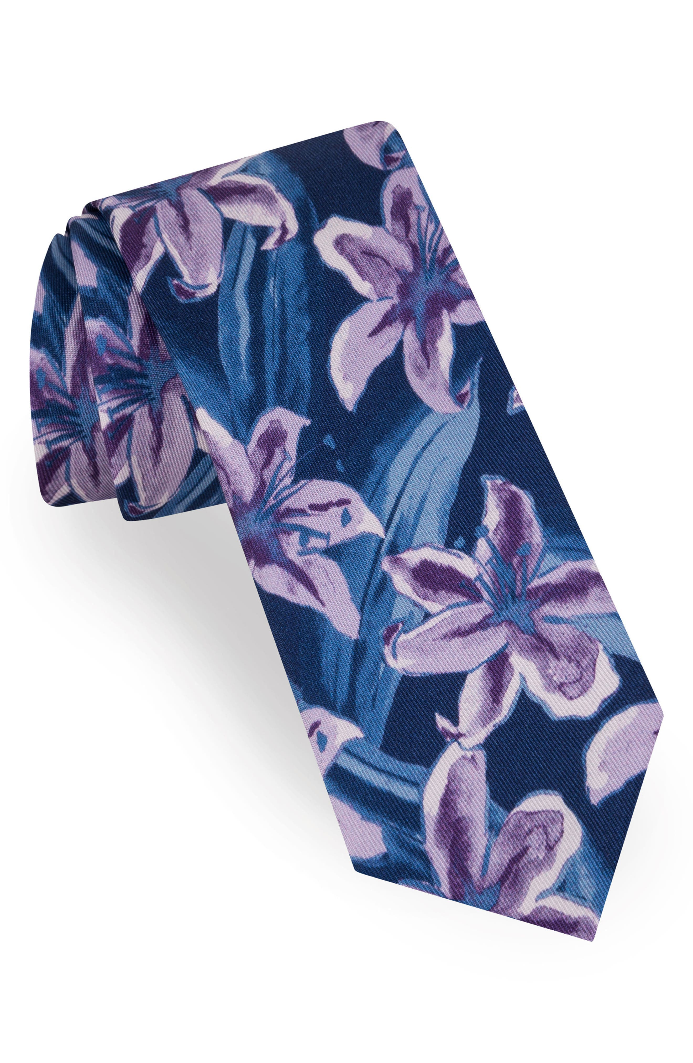 Ted Baker London Lily Print Silk Tie