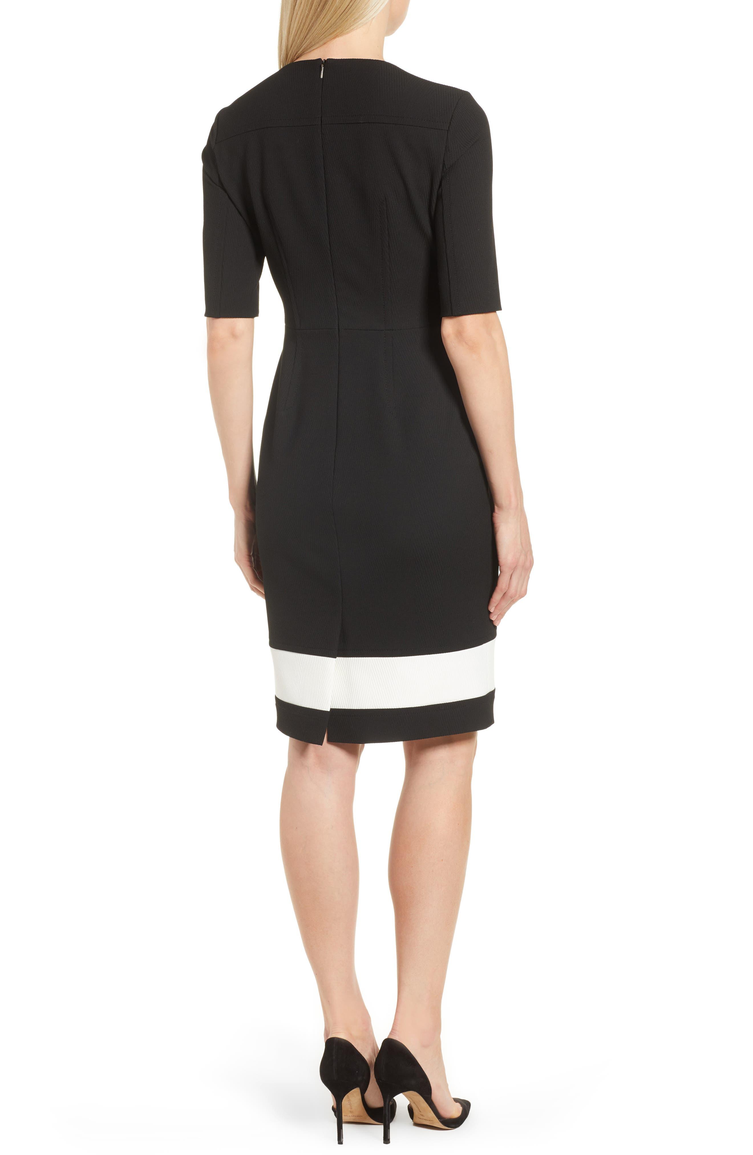 Dasmia Sheath Dress,                             Alternate thumbnail 2, color,                             Black