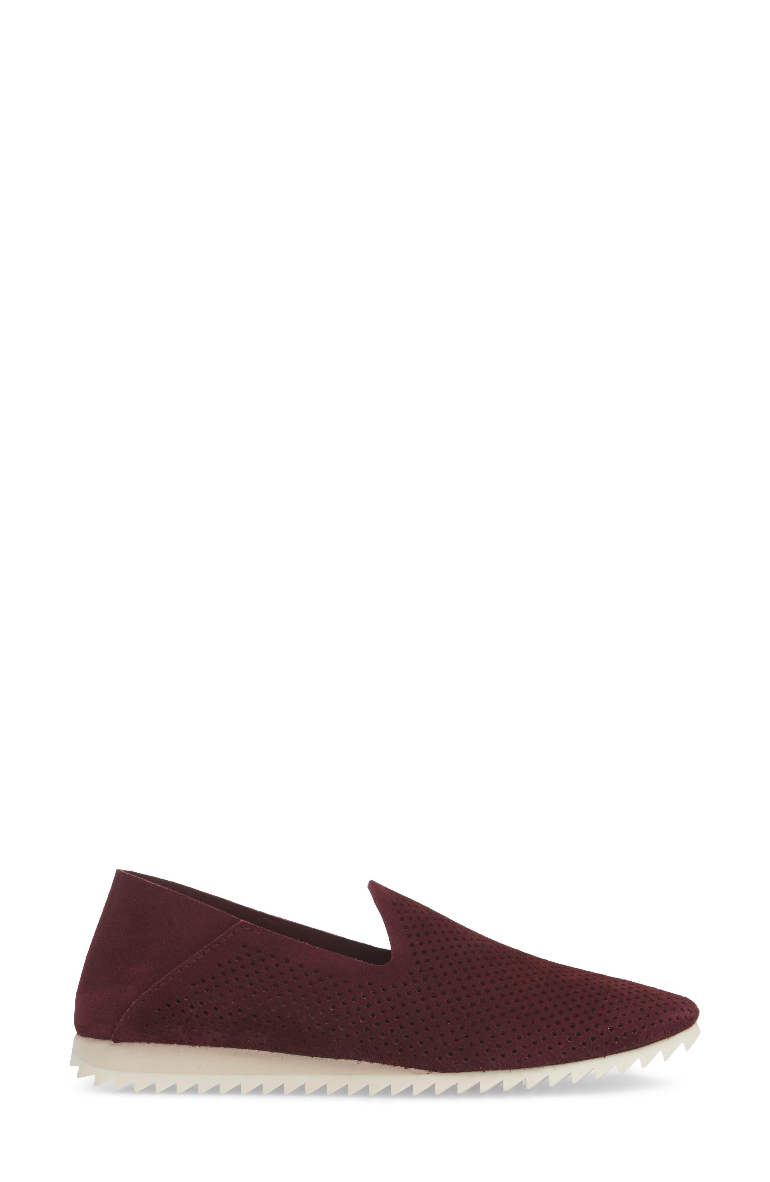 Cristiane Loafer Flat,                             Alternate thumbnail 3, color,                             Garnet Castoro