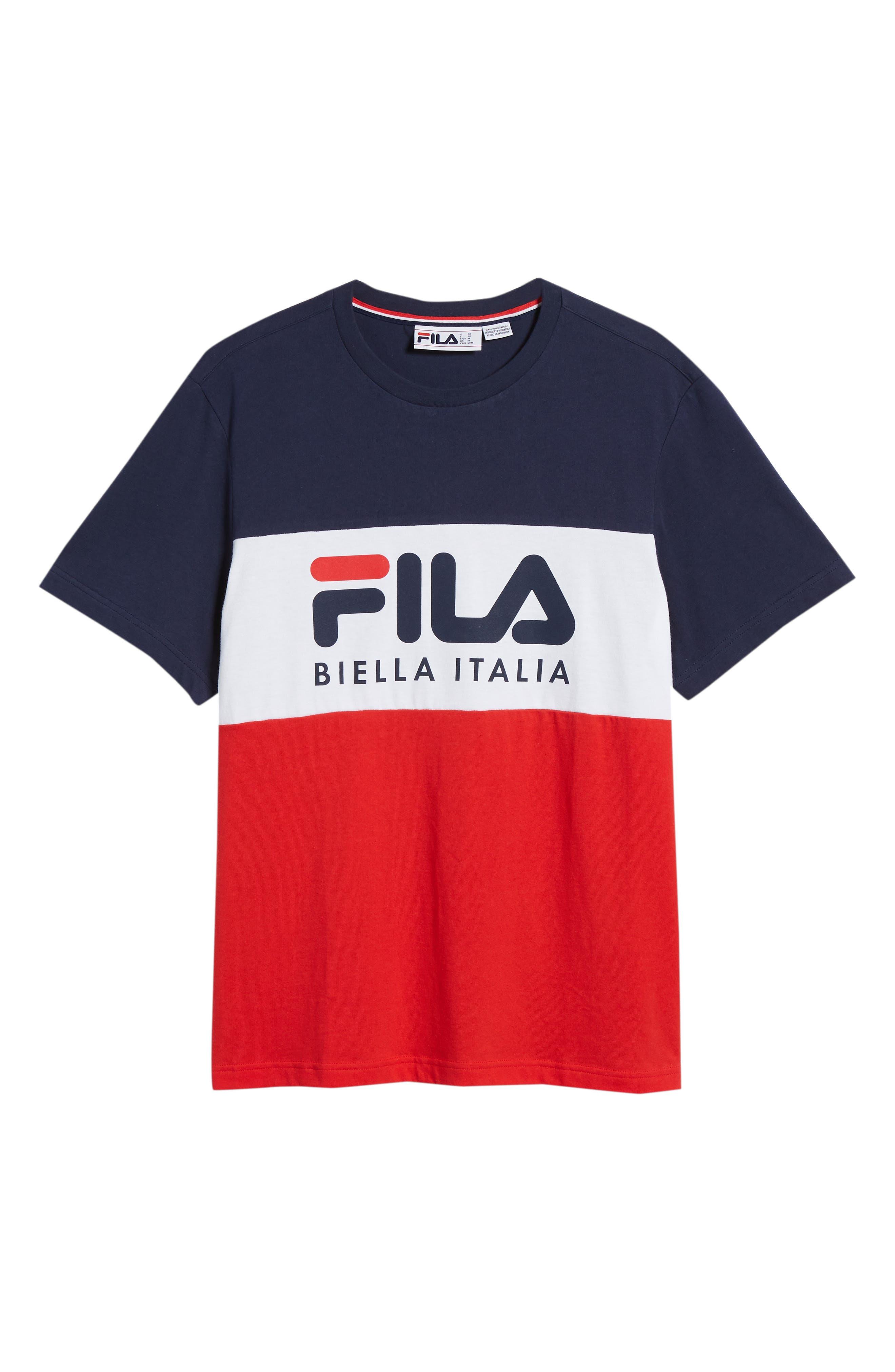 Biella Italia T-Shirt,                             Alternate thumbnail 6, color,                             Navy/ White/ Red