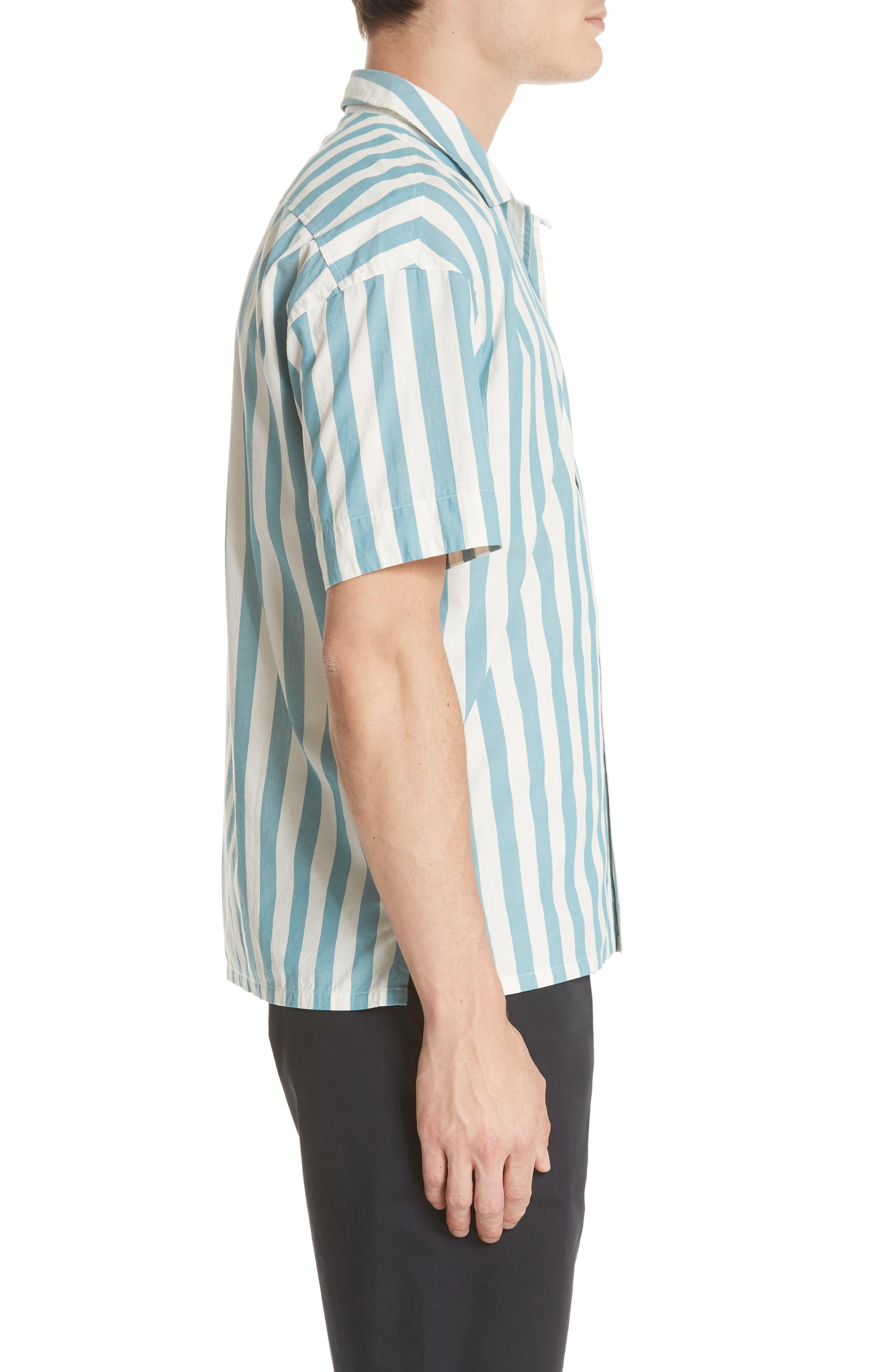 Harley Stripe Shirt,                             Alternate thumbnail 4, color,                             Pale Opal
