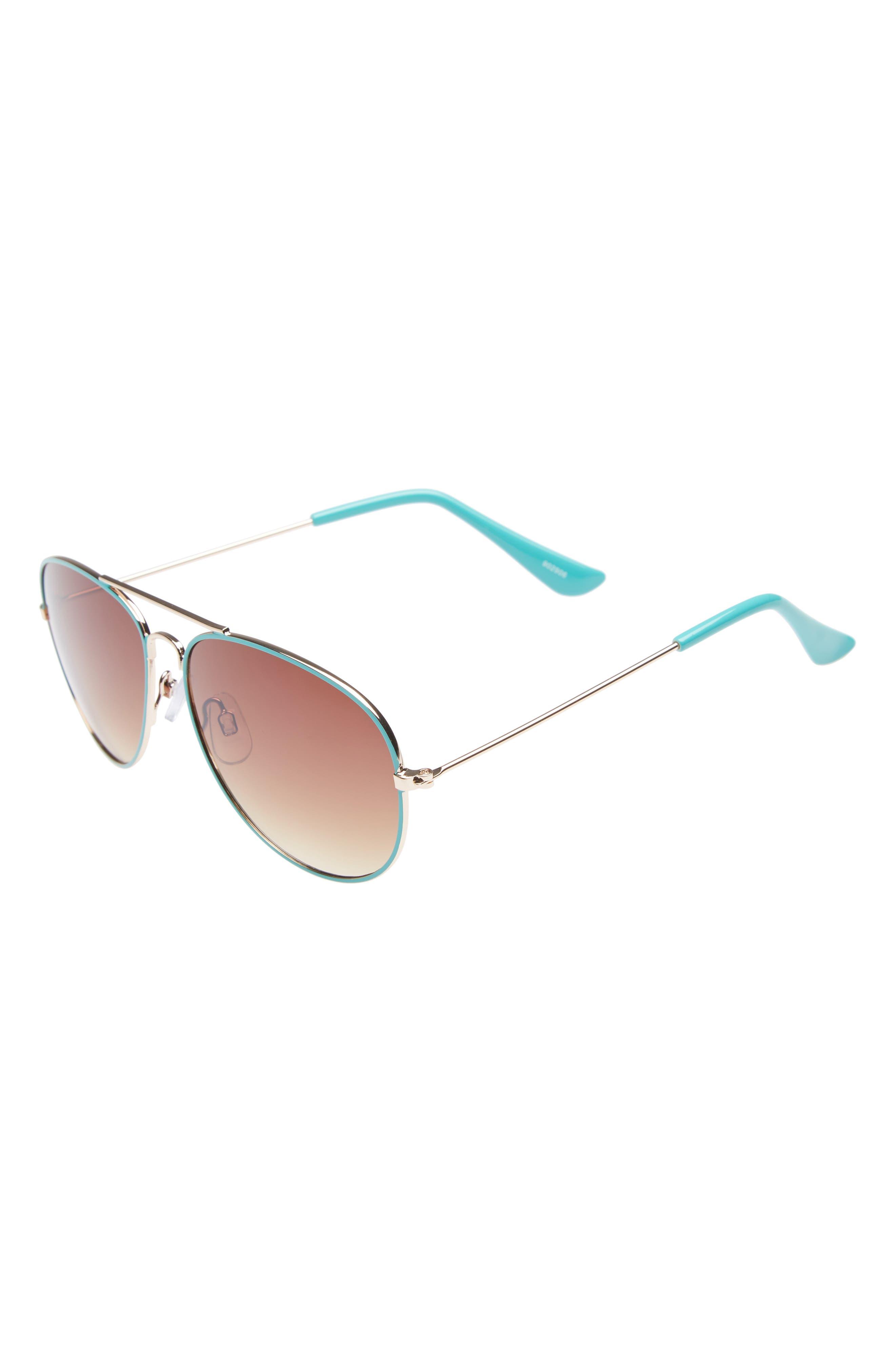 Aviator Sunglasses,                             Main thumbnail 1, color,                             Gold