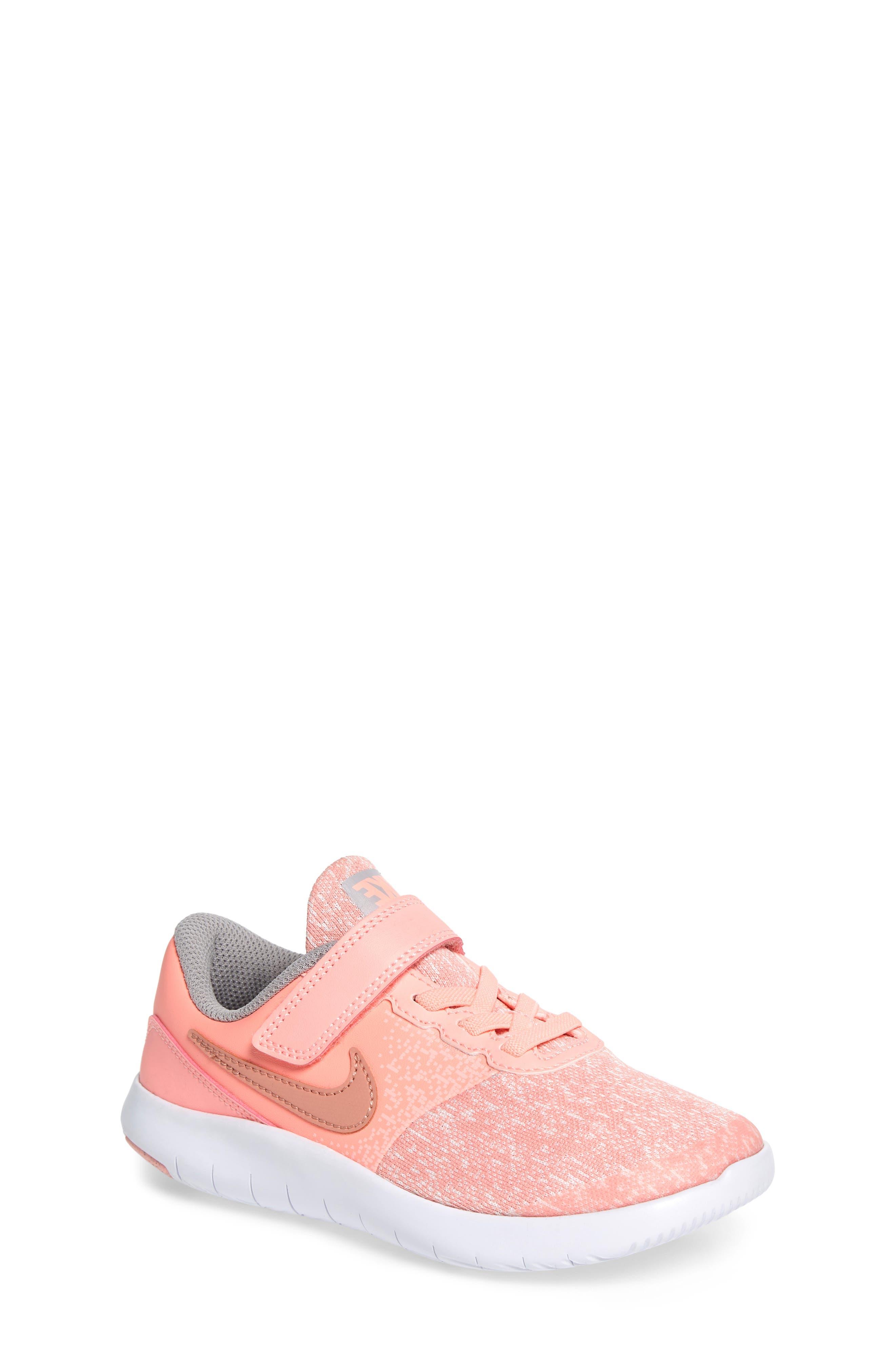 Flex Contact Running Shoe,                             Main thumbnail 1, color,                             Rose Gold/ Storm Pink