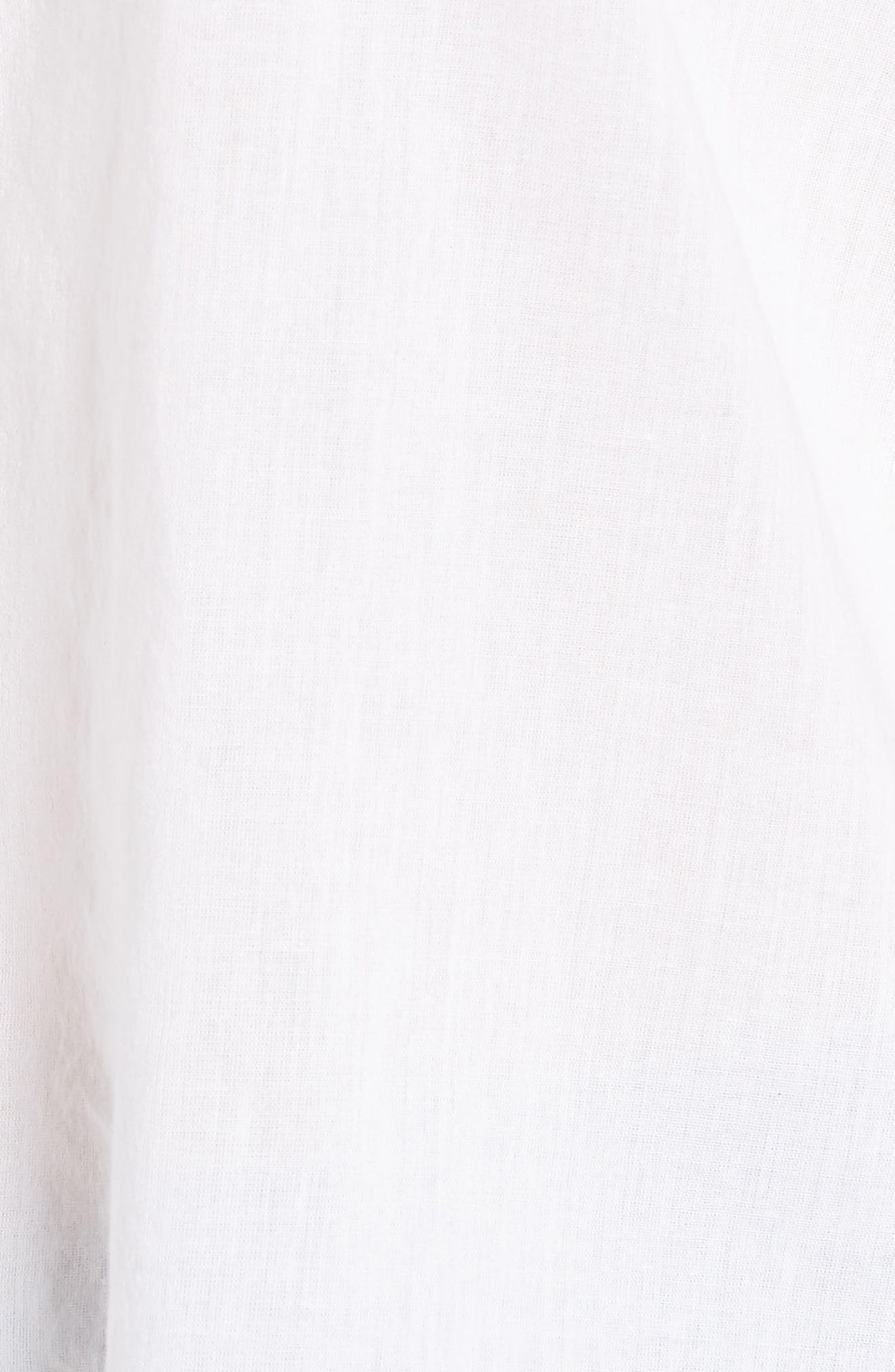 Embroidered Trumpet Sleeve Blouse,                             Alternate thumbnail 6, color,                             White