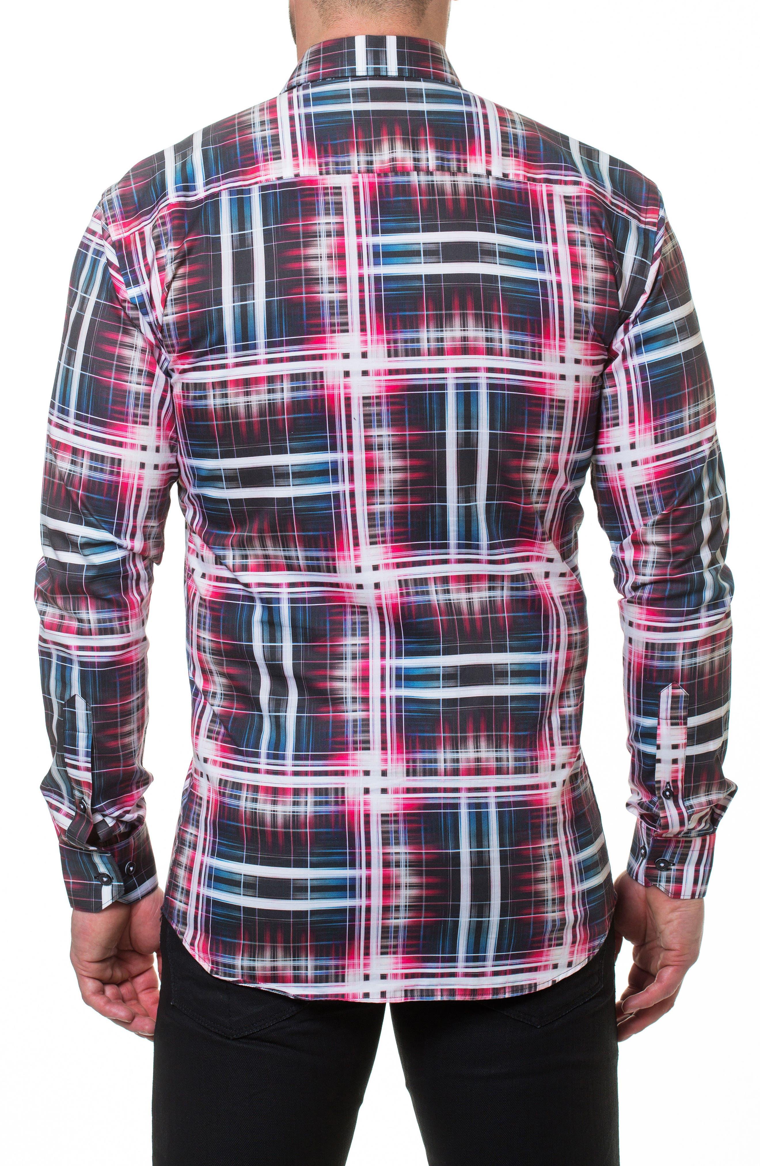 Luxor Fiber Slim Fit Sport Shirt,                             Alternate thumbnail 2, color,                             Red