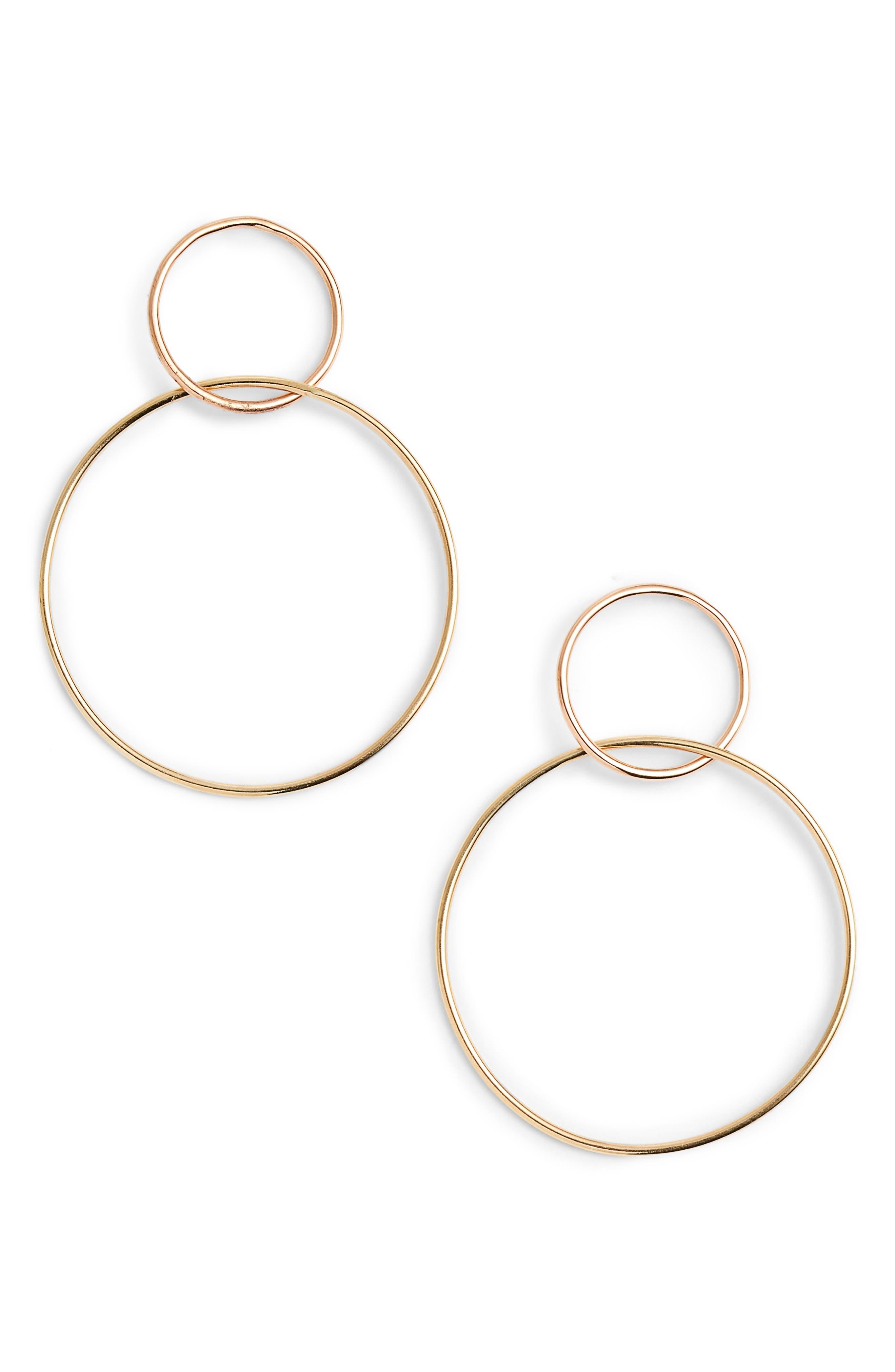 Alternate Image 1 Selected - Lana Jewelry Two Tone Double Loop Earrings