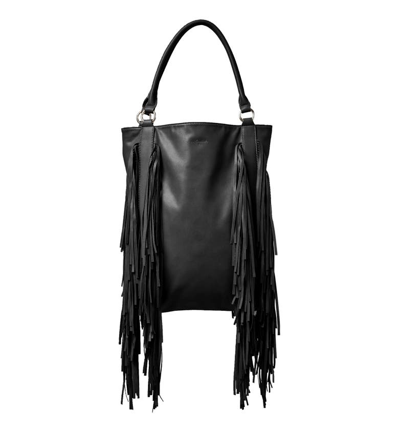 Urban Originals CRAZY LOVE VEGAN LEATHER TOTE - BLACK