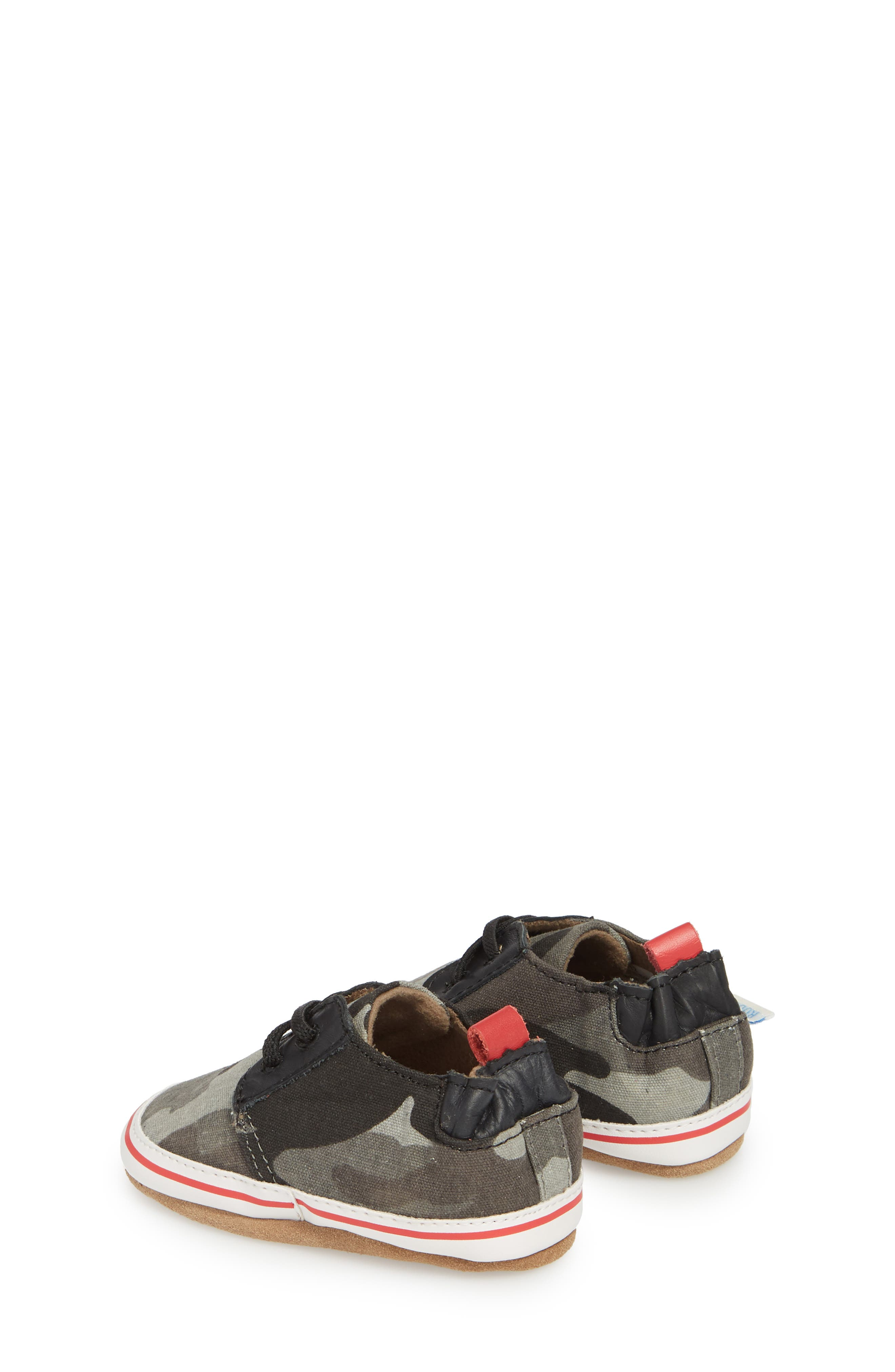 Cool & Casual Camo Print Crib Shoe,                             Alternate thumbnail 2, color,                             Grey