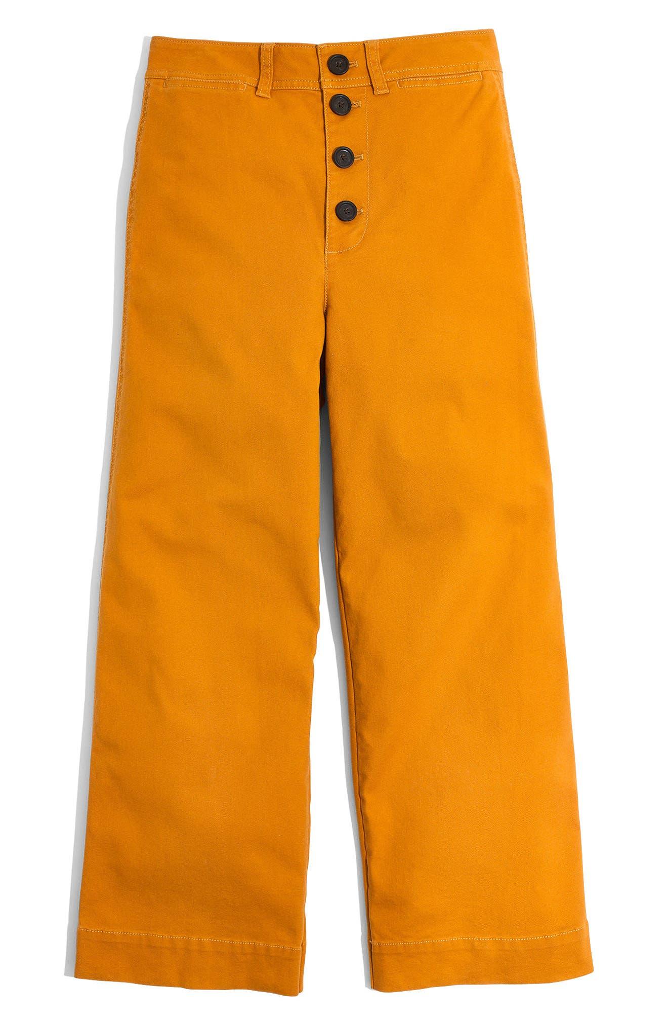 Alternate Image 4  - Madewell Emmett Wide Leg Crop Pants