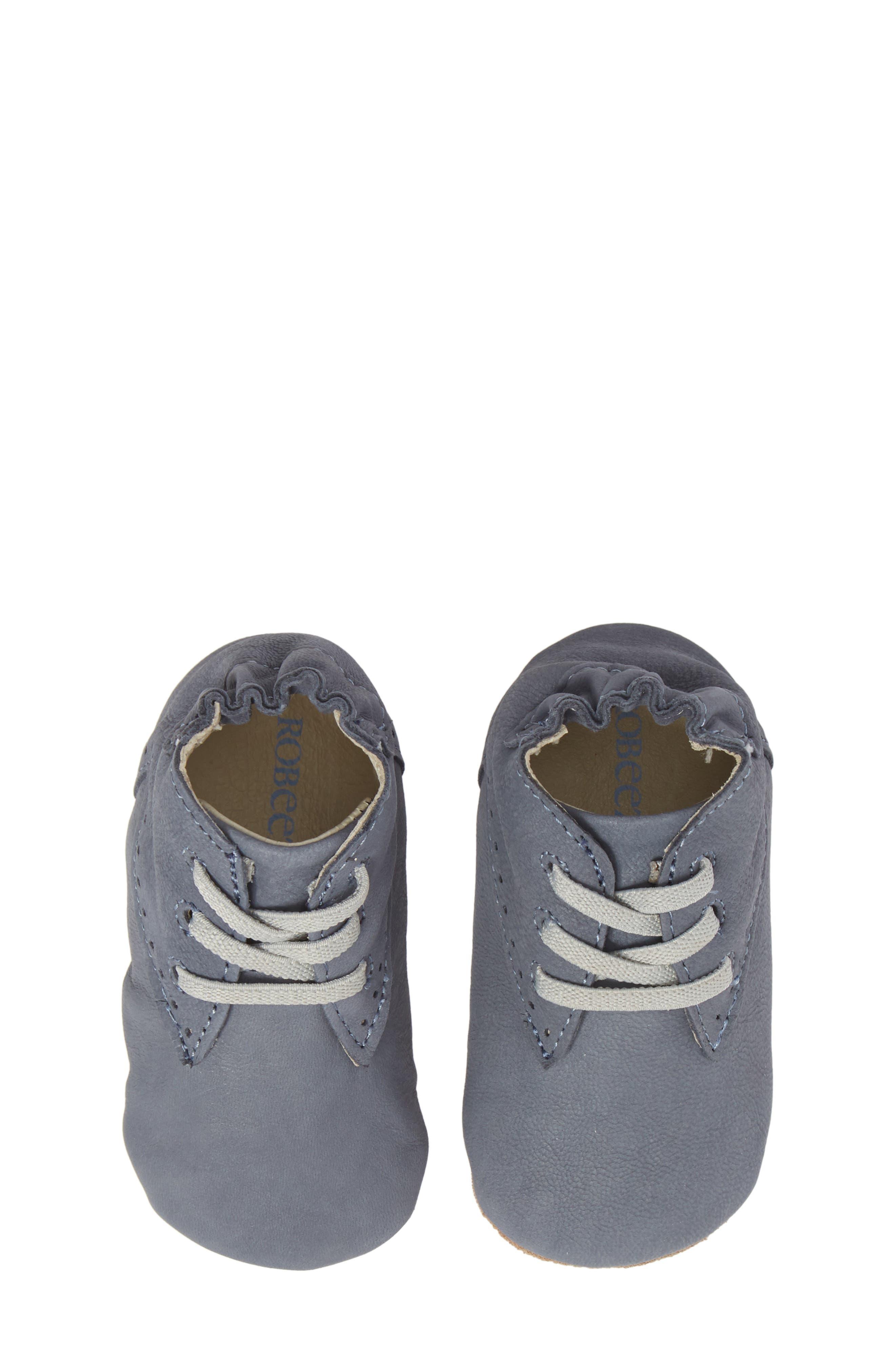 William Chukka Boot Crib Shoe,                             Alternate thumbnail 5, color,                             Blue